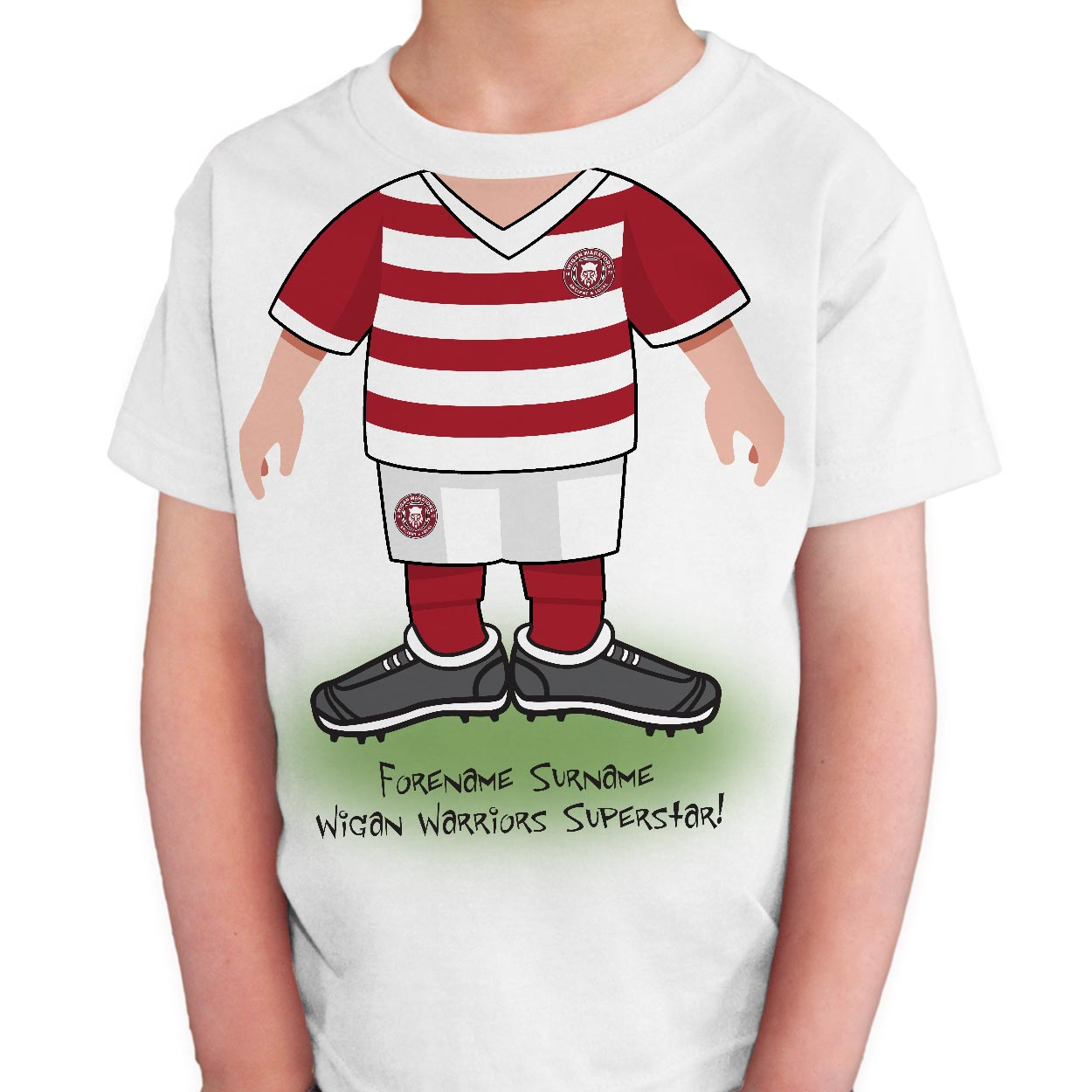 Wigan Warriors Kids Use Your Head T-Shirt