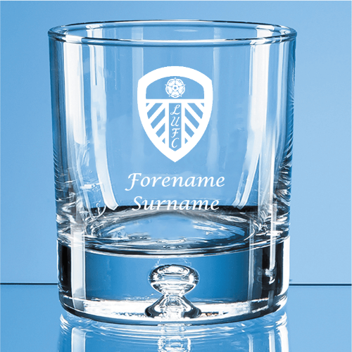Leeds United FC Crest Bubble Base Whisky Tumbler