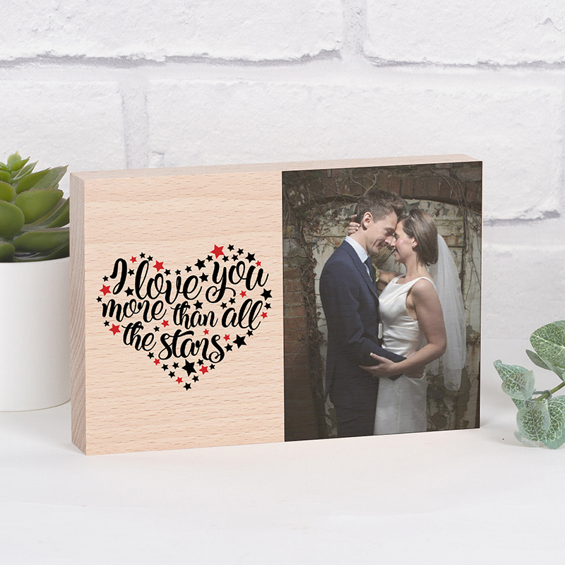Personalised Photo Block - Love You More