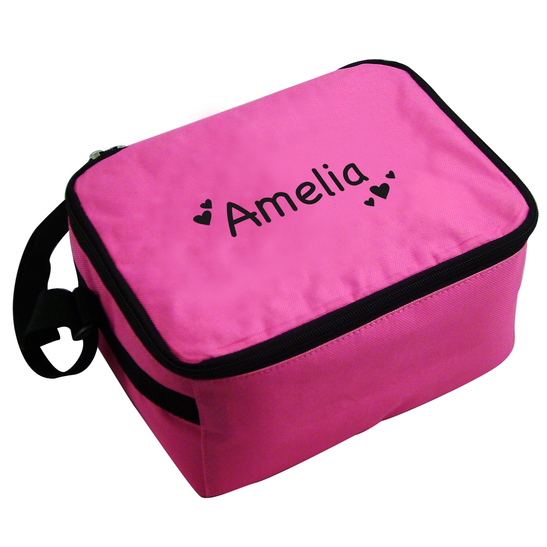 Personalised Pink Heart Cool Bag