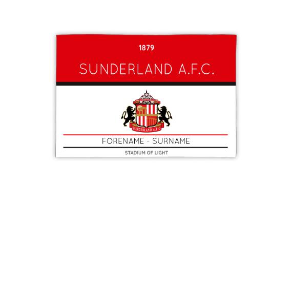 Sunderland Minimal Ticket 3ft x 2ft Banner