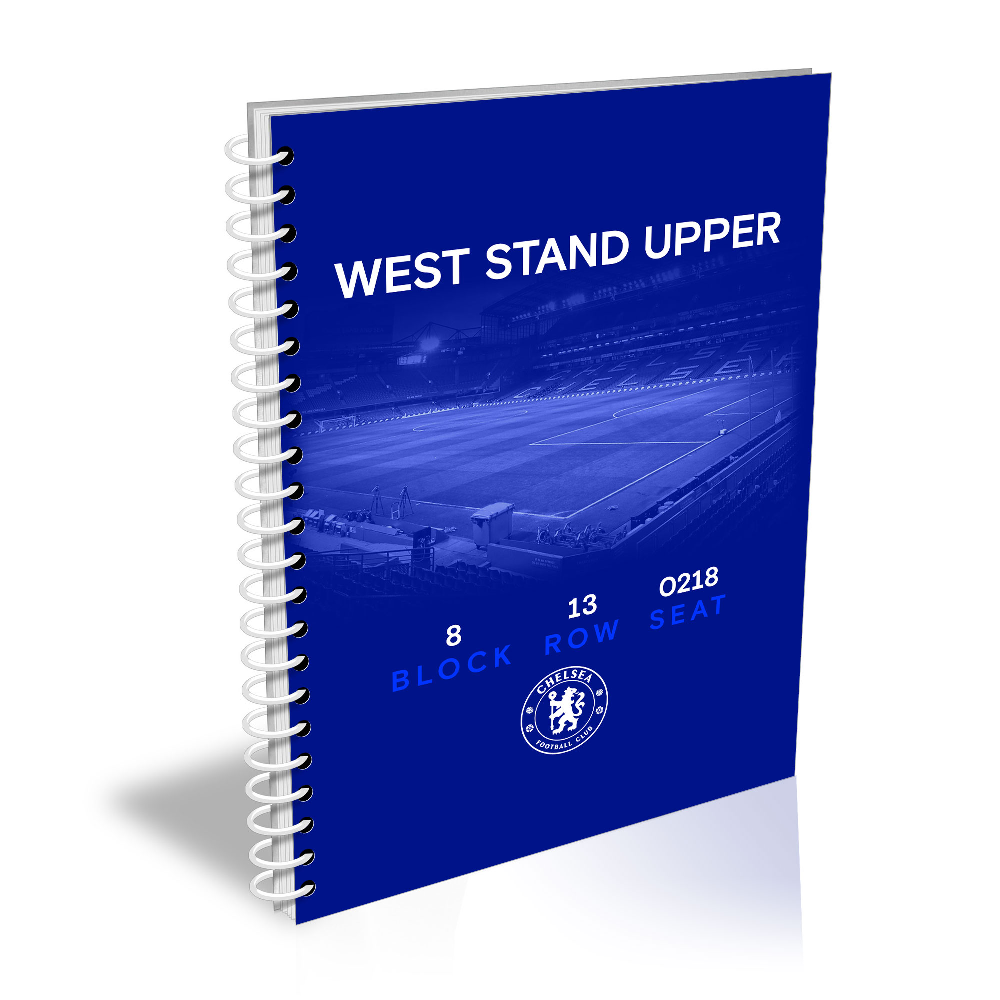 Chelsea FC My Seat in Stamford Bridge A4 Lined Notepad
