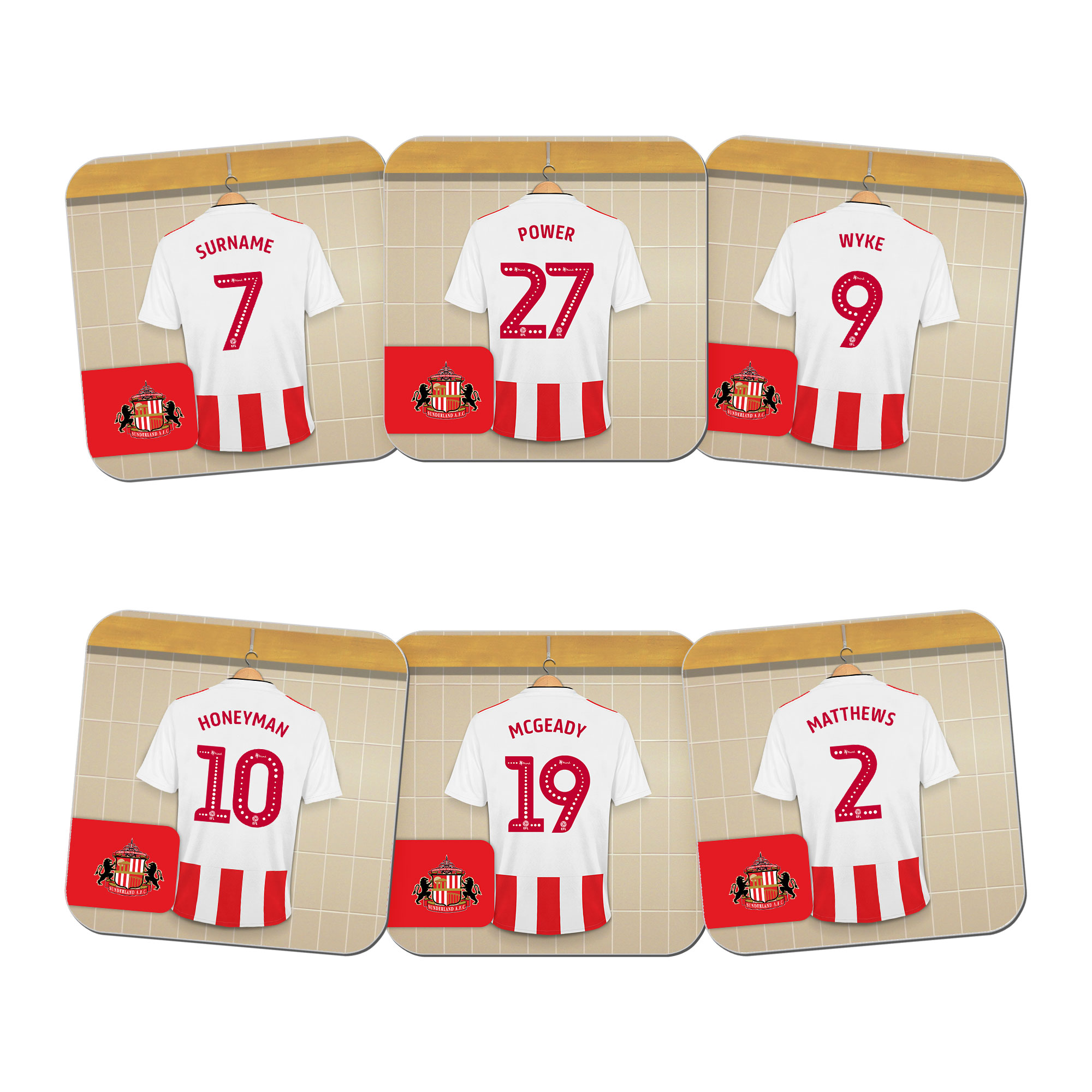 Sunderland AFC Dressing Room Coasters