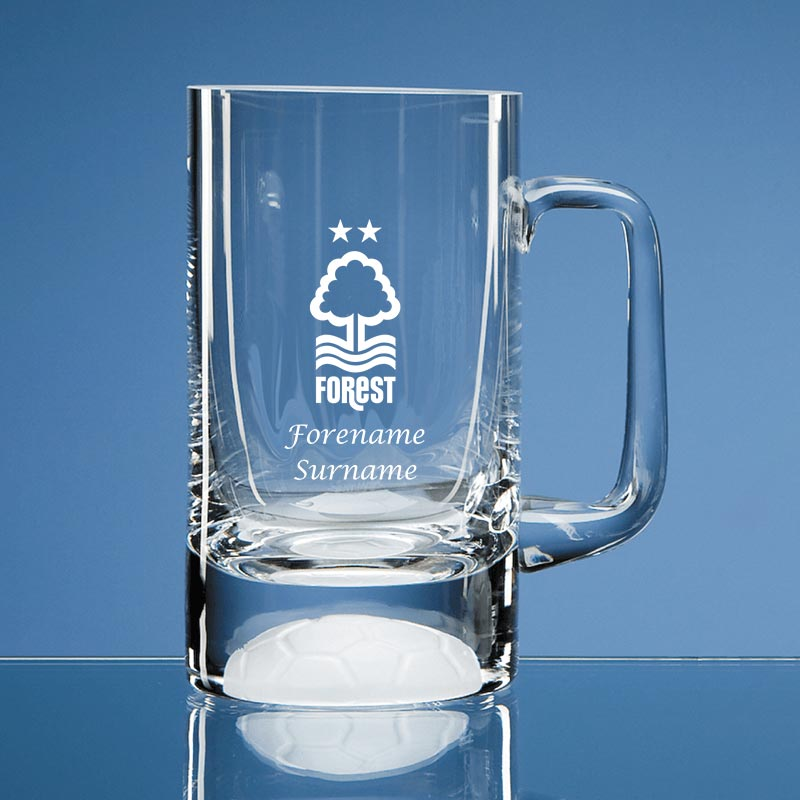 Nottingham Forest FC Crest Half Pint Ball Base Tankard