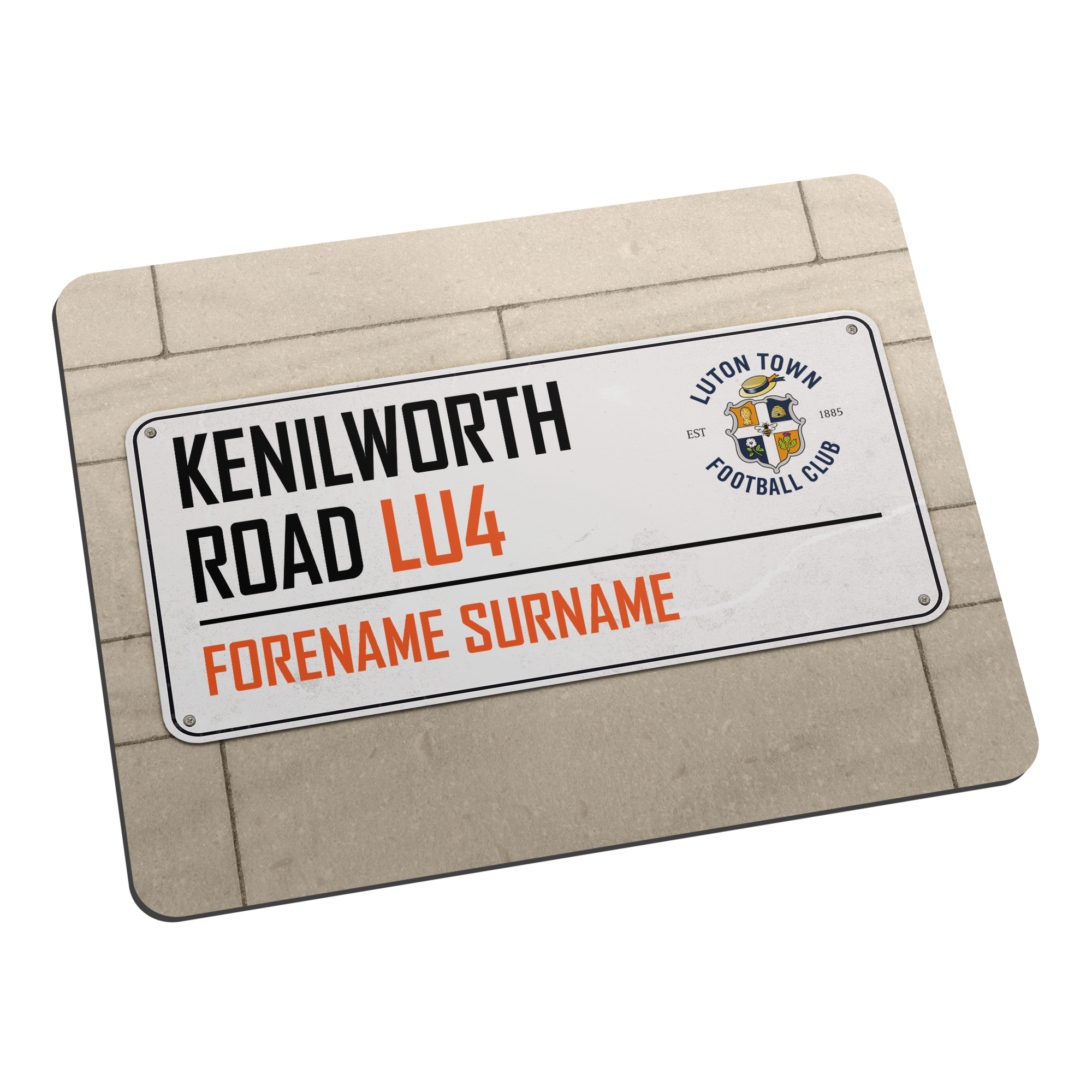 Luton Town FC Street Sign Mouse Mat