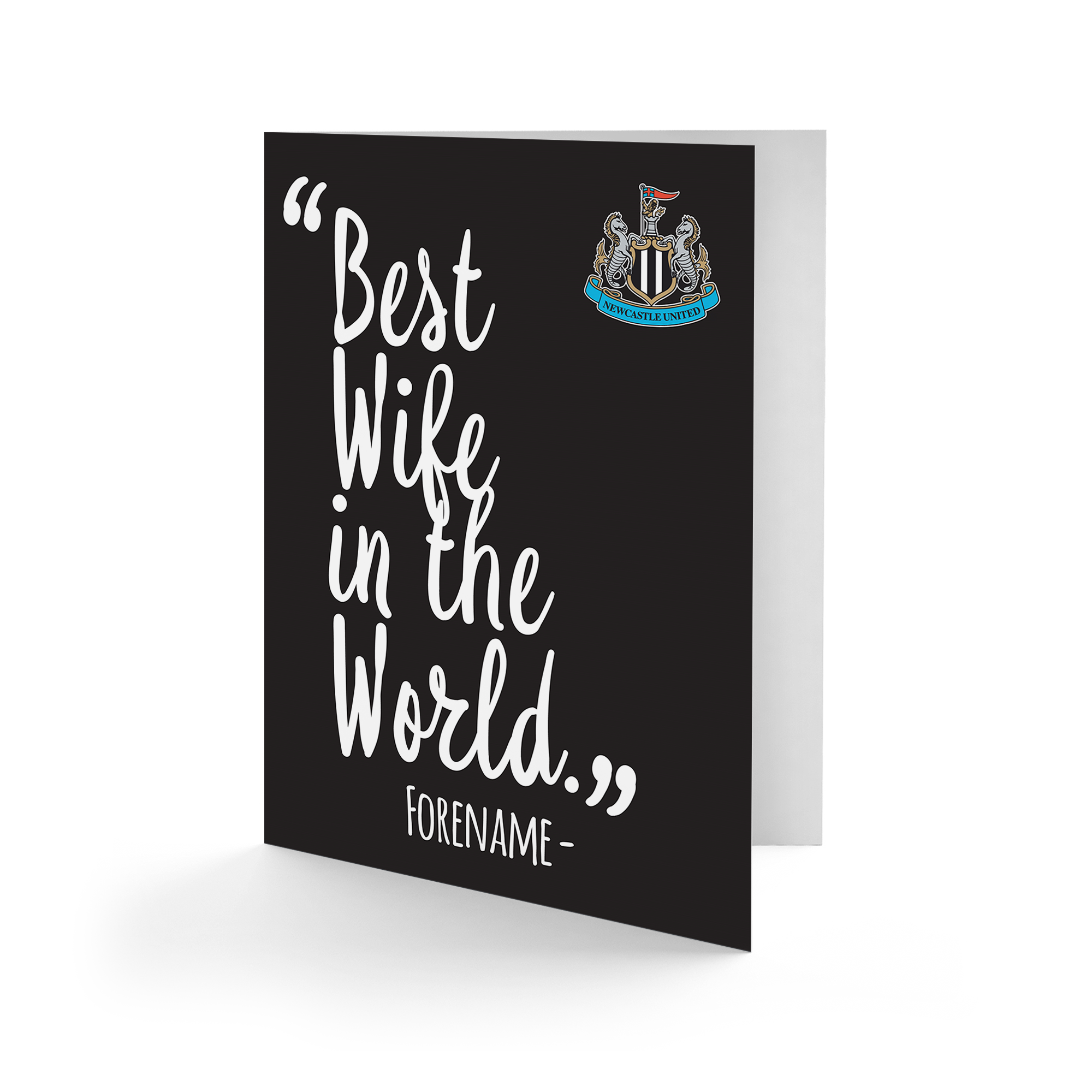 Newcastle United FC Best Wife In The World Card