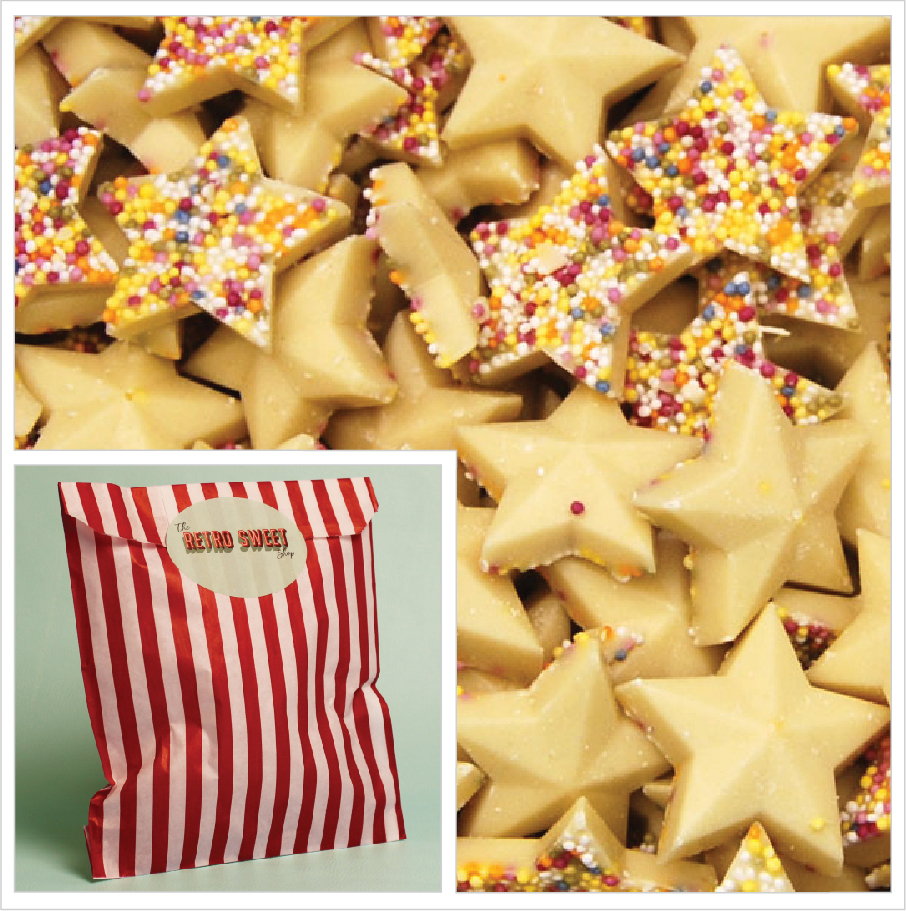 White Chocolate Stars Sweet Bag