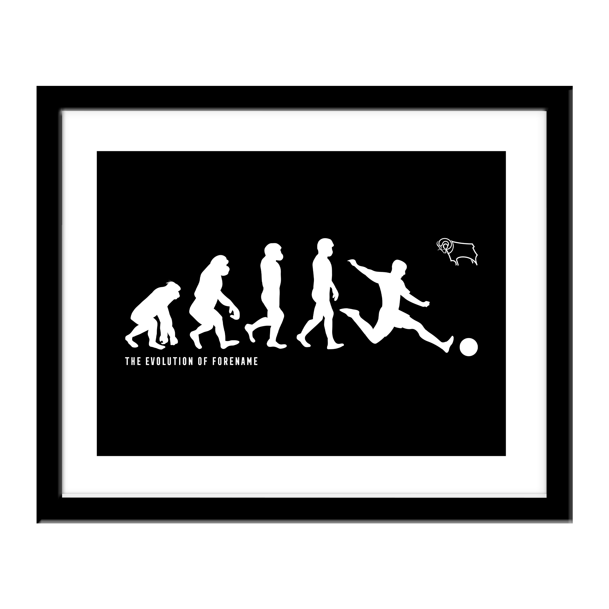 Derby County Evolution Print
