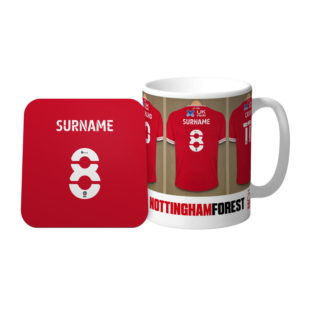 Nottingham Forest FC Dressing Room Mug & Coaster Set