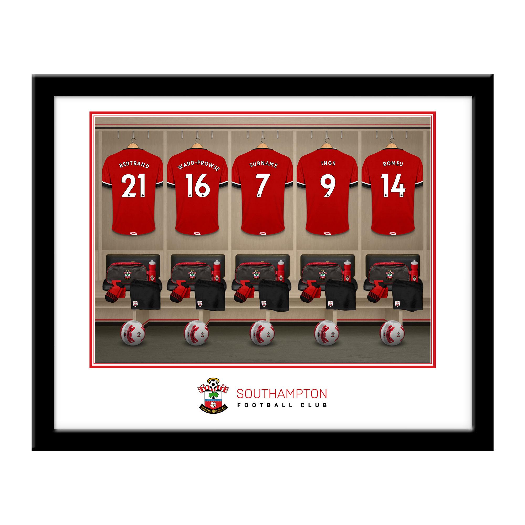 Southampton FC Dressing Room Framed Print