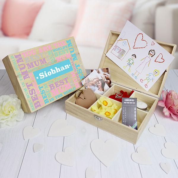 Best Mum - 6 Compartment Keepsake Box