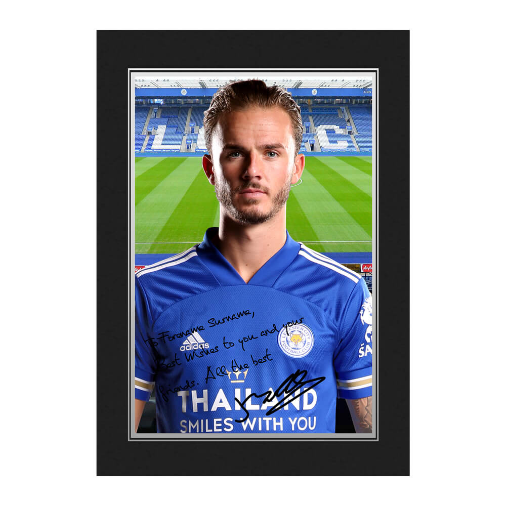 Leicester City FC Maddison Autograph Photo Folder