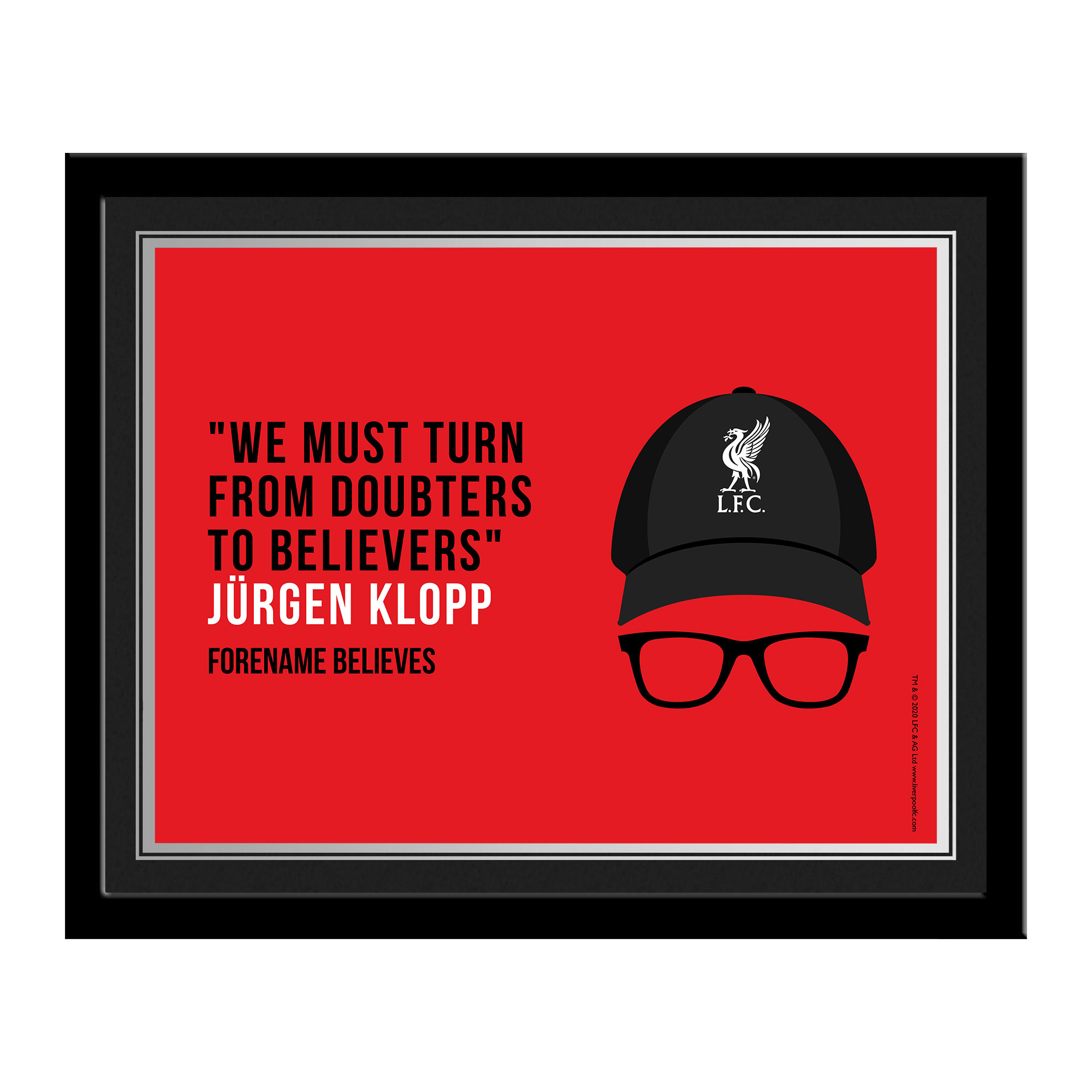 Liverpool FC Champions 2020 Klopp Photo Framed