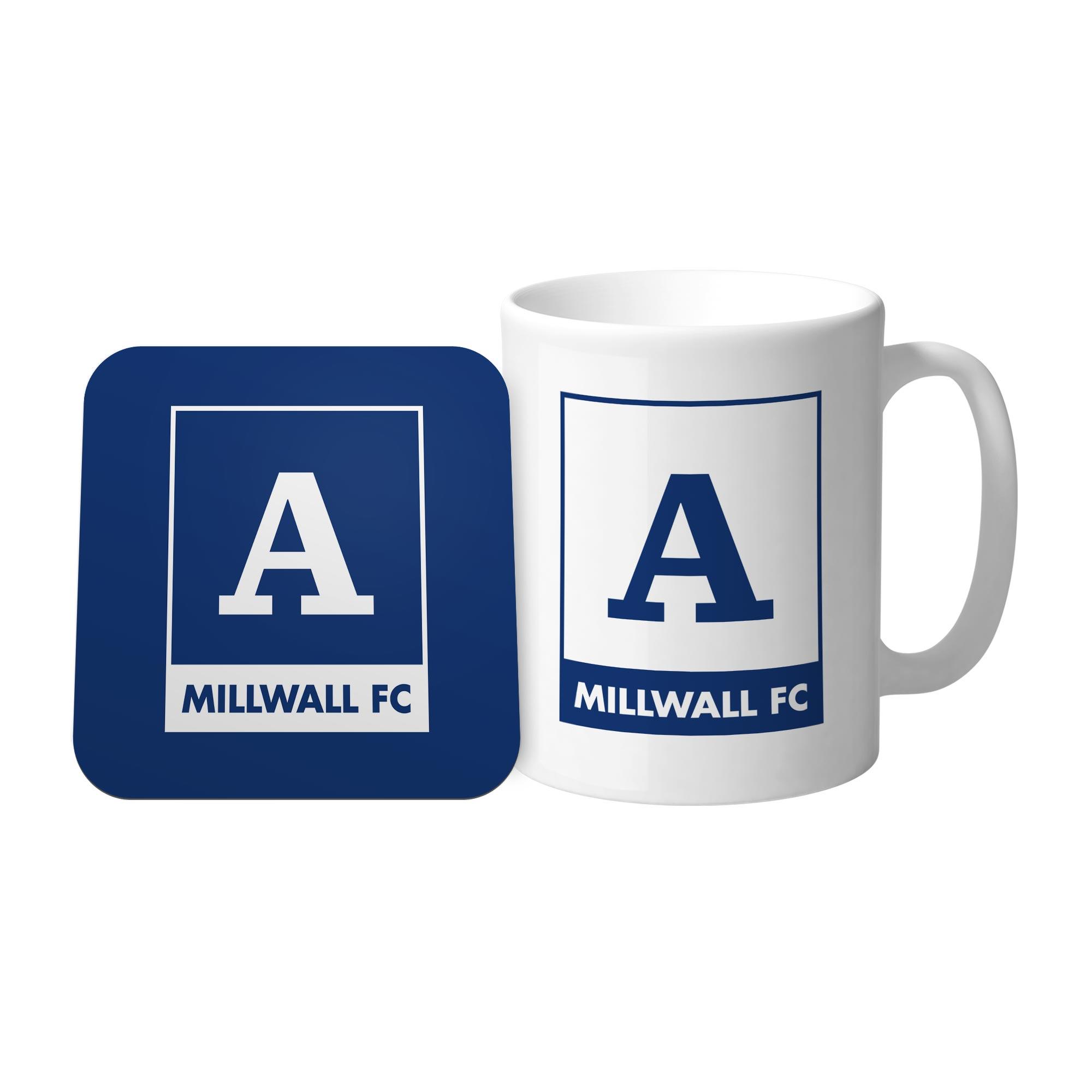 Millwall Monogram Mug & Coaster Set