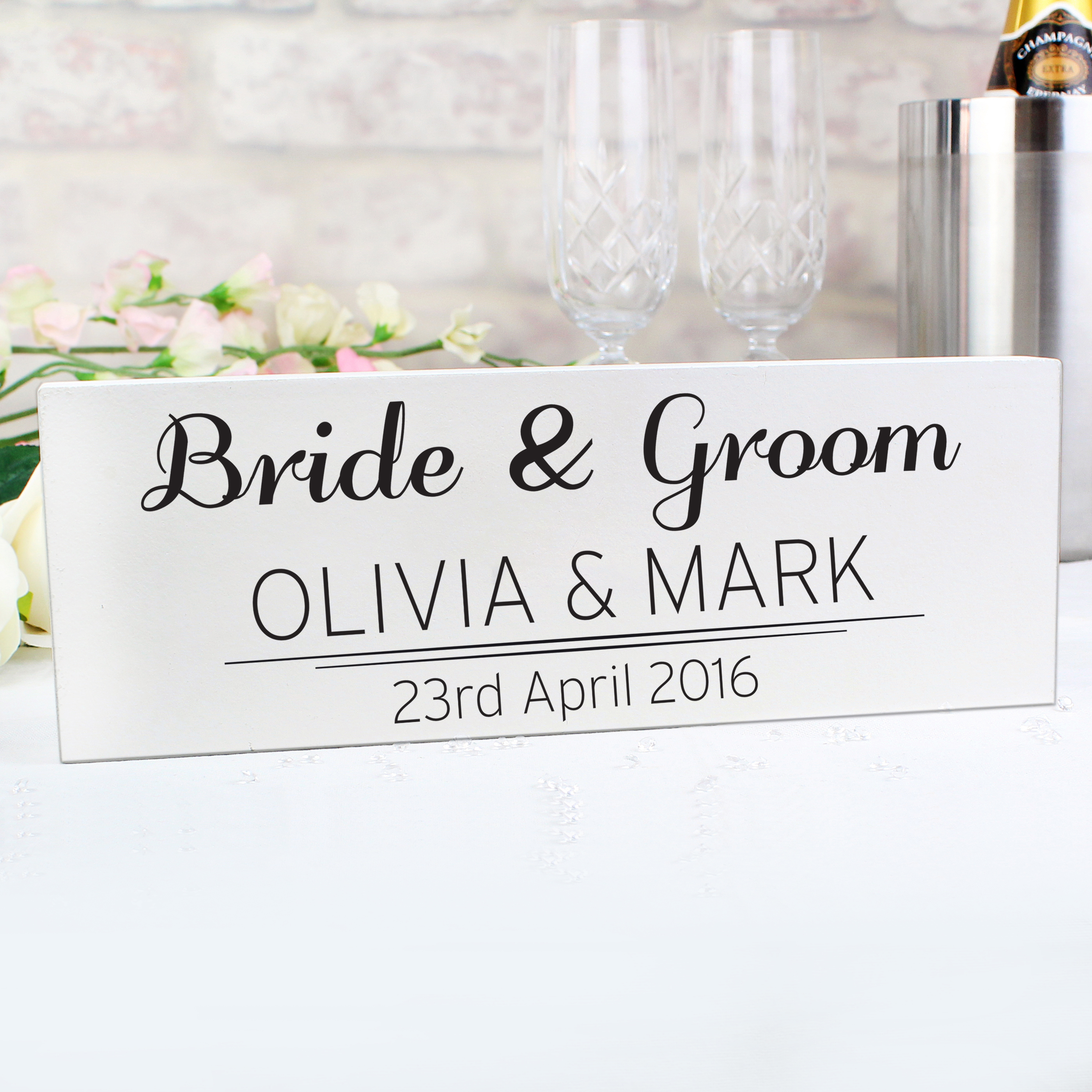 Personalised Classic Mantel Block