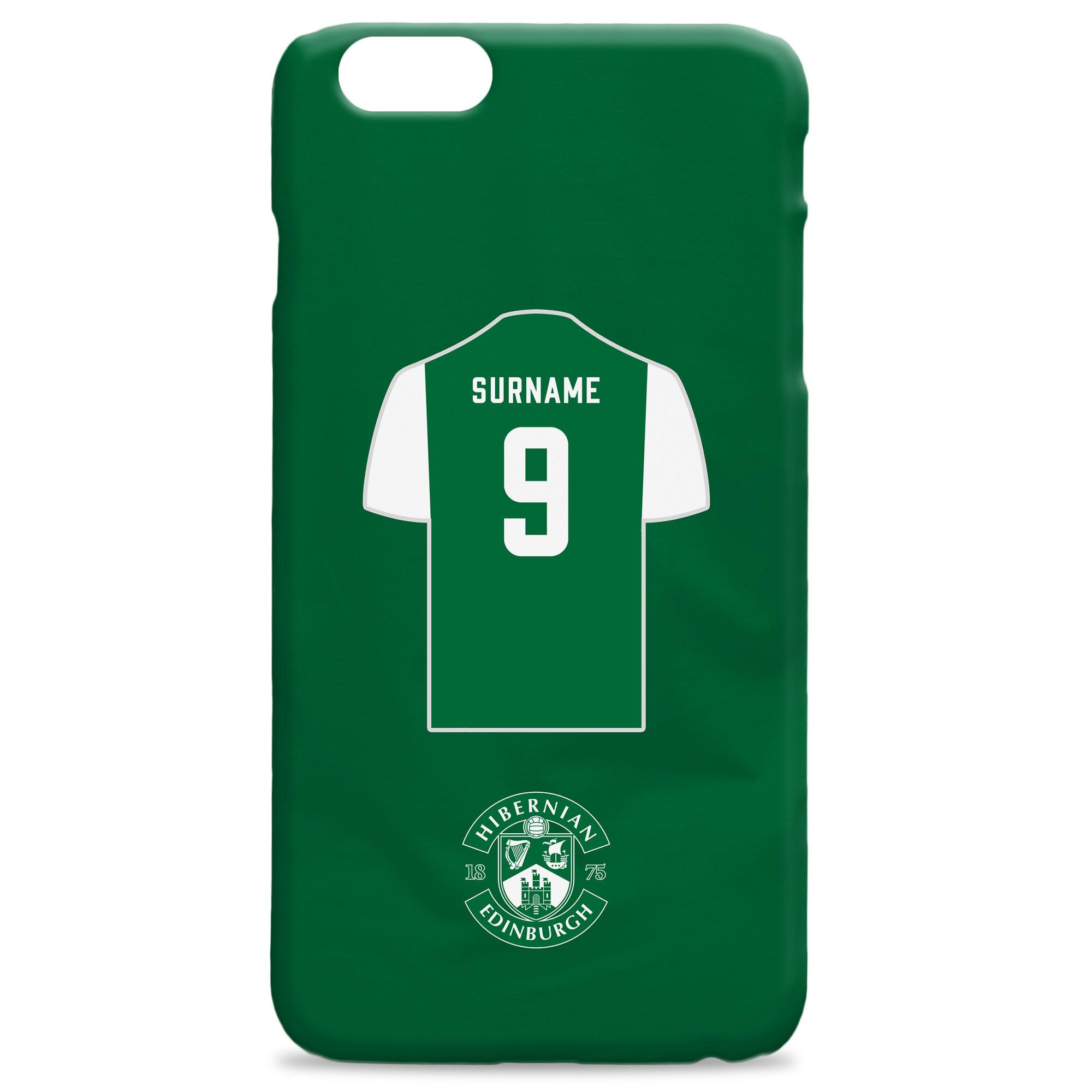 Hibernian FC Shirt Hard Back Phone Case