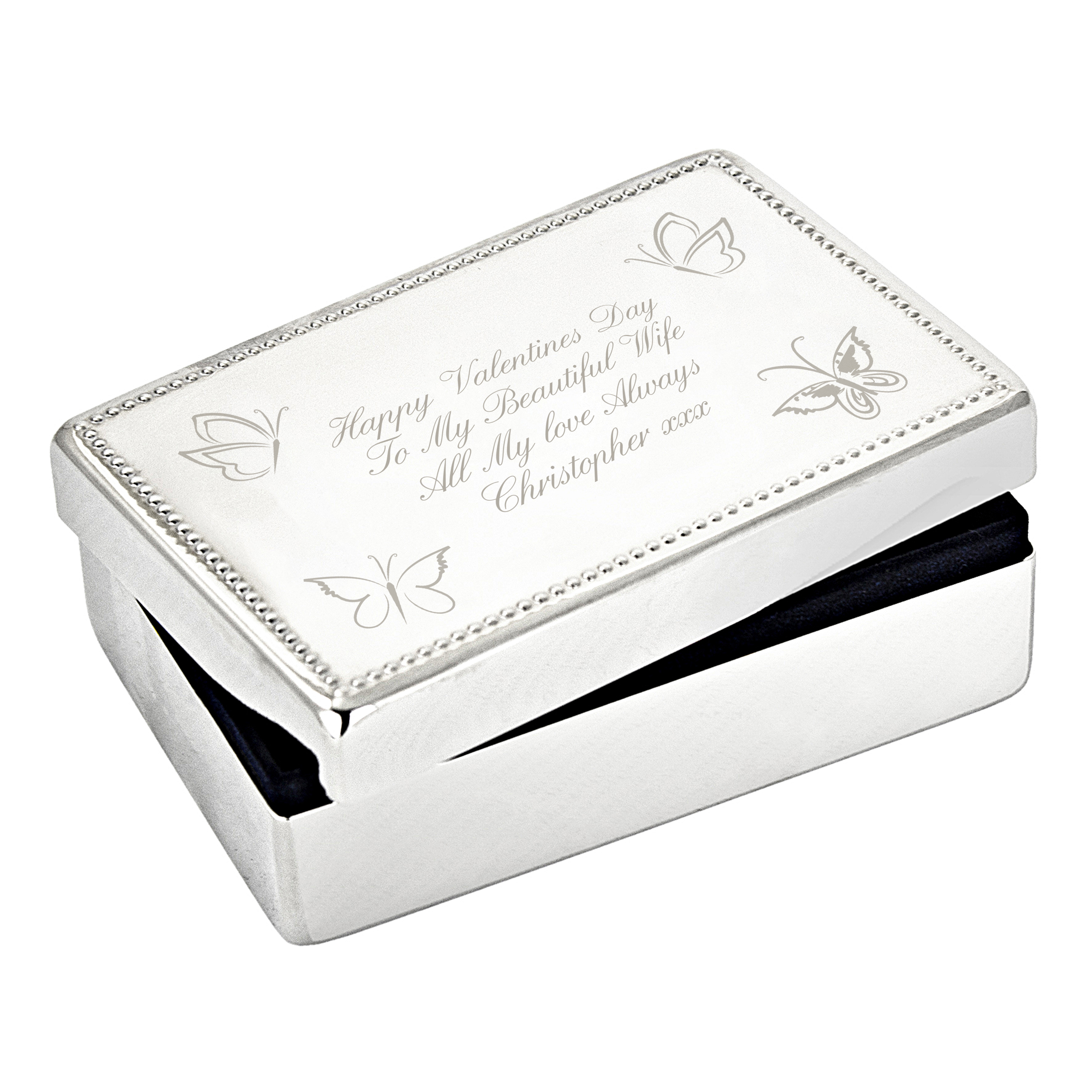 Engraved Jewellery Box