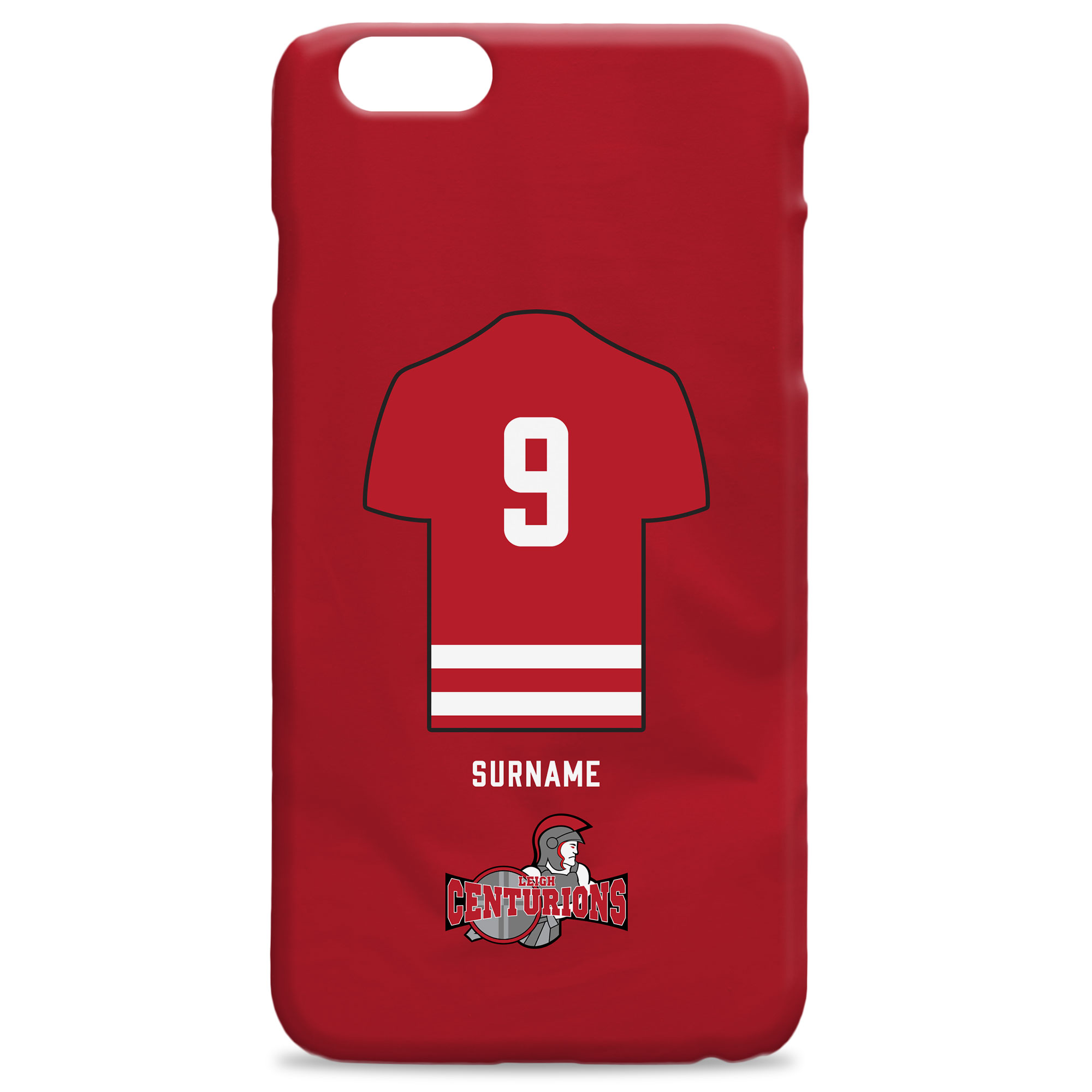 Leigh Centurions Shirt Hard Back Phone Case