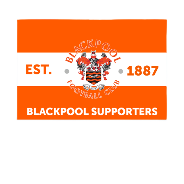 Blackpool Supporters 6ft x 4ft Banner