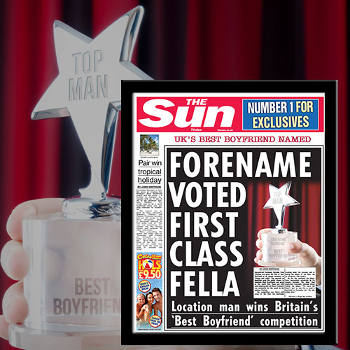 The Sun Best Boyfriend News Single Page Print