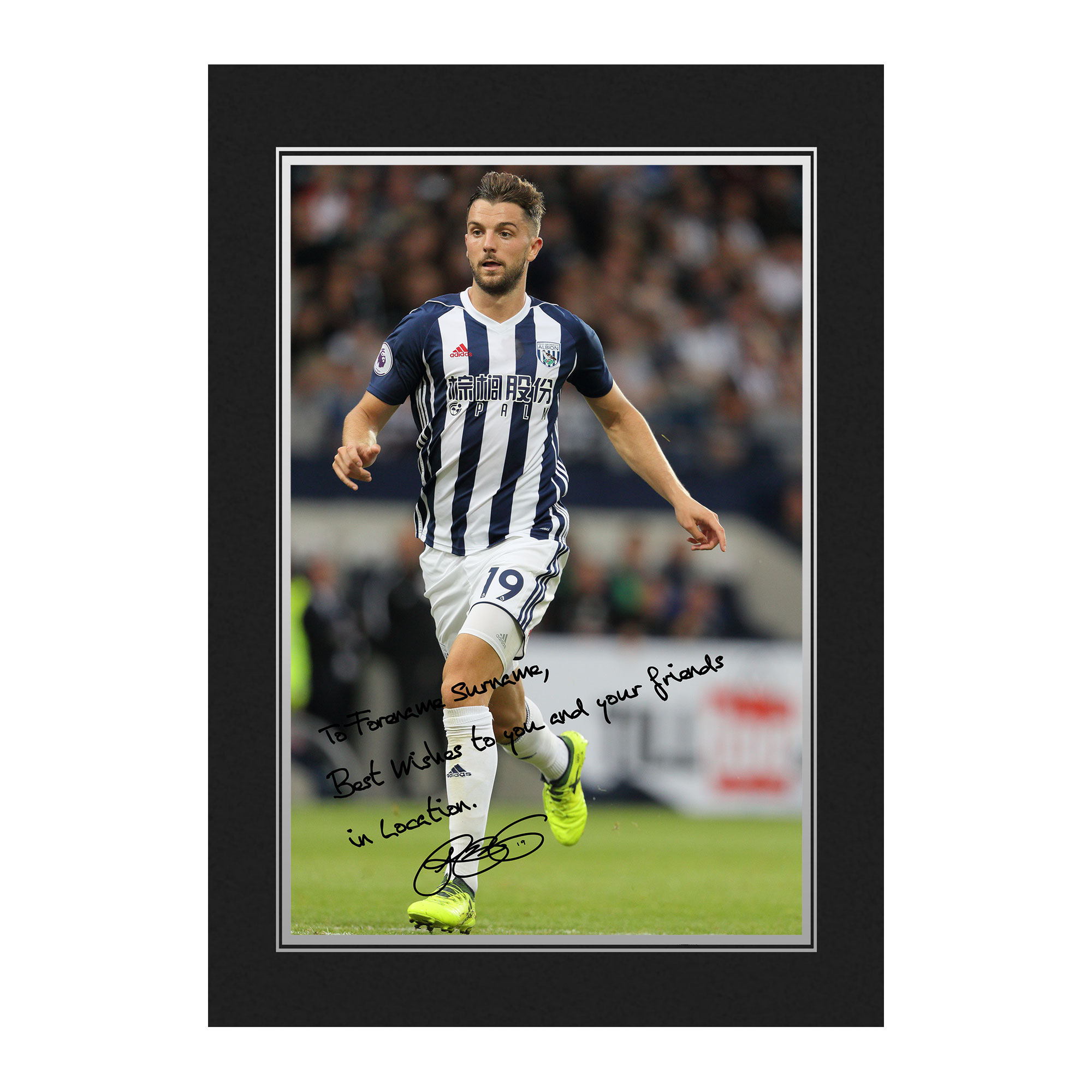 West Bromwich Albion FC Rodriguez Autograph Photo Folder