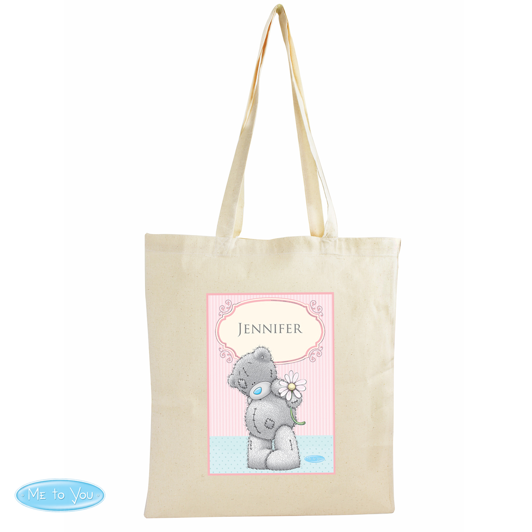 Personalised Me to You Daisy Cotton Bag