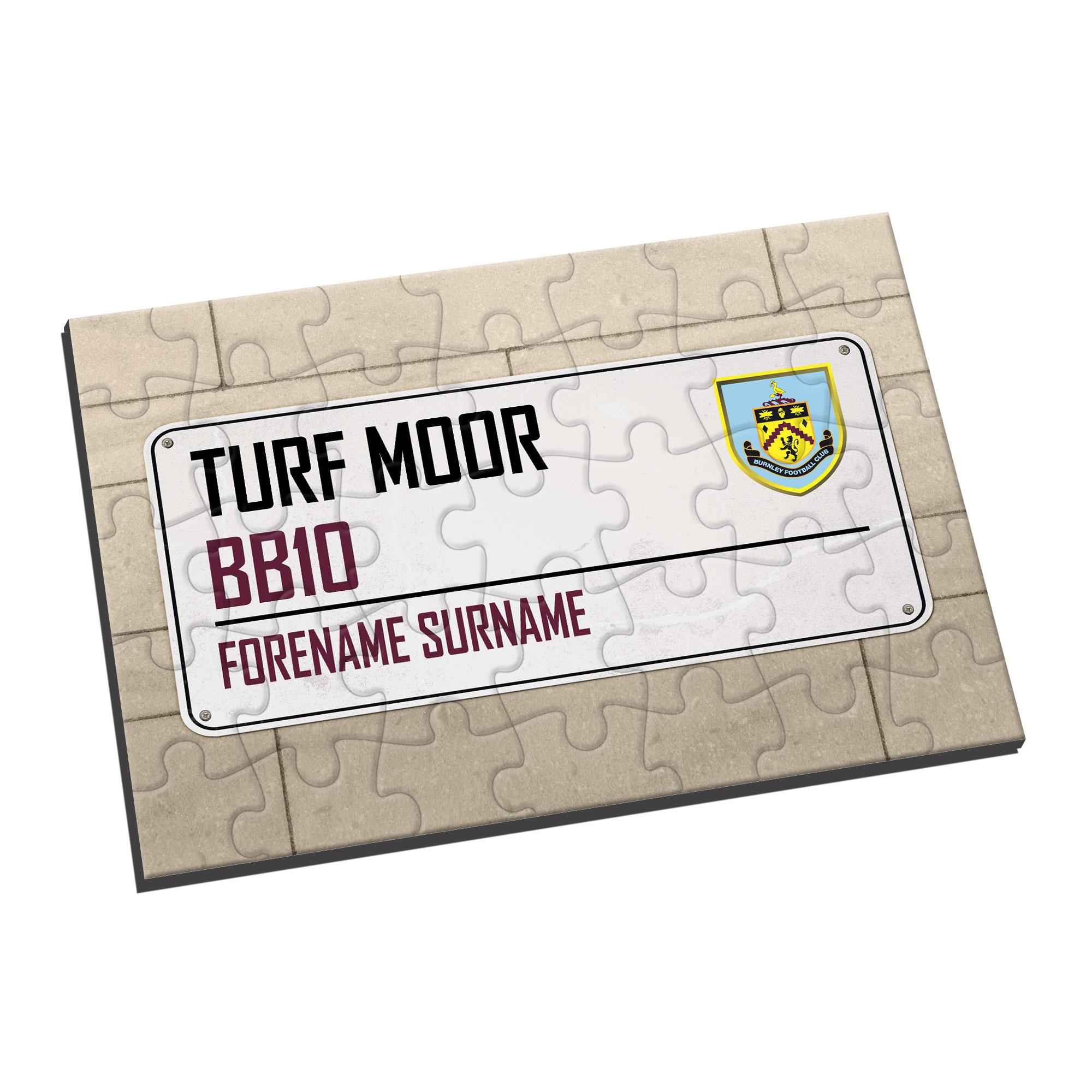 Burnley FC Street Sign Jigsaw