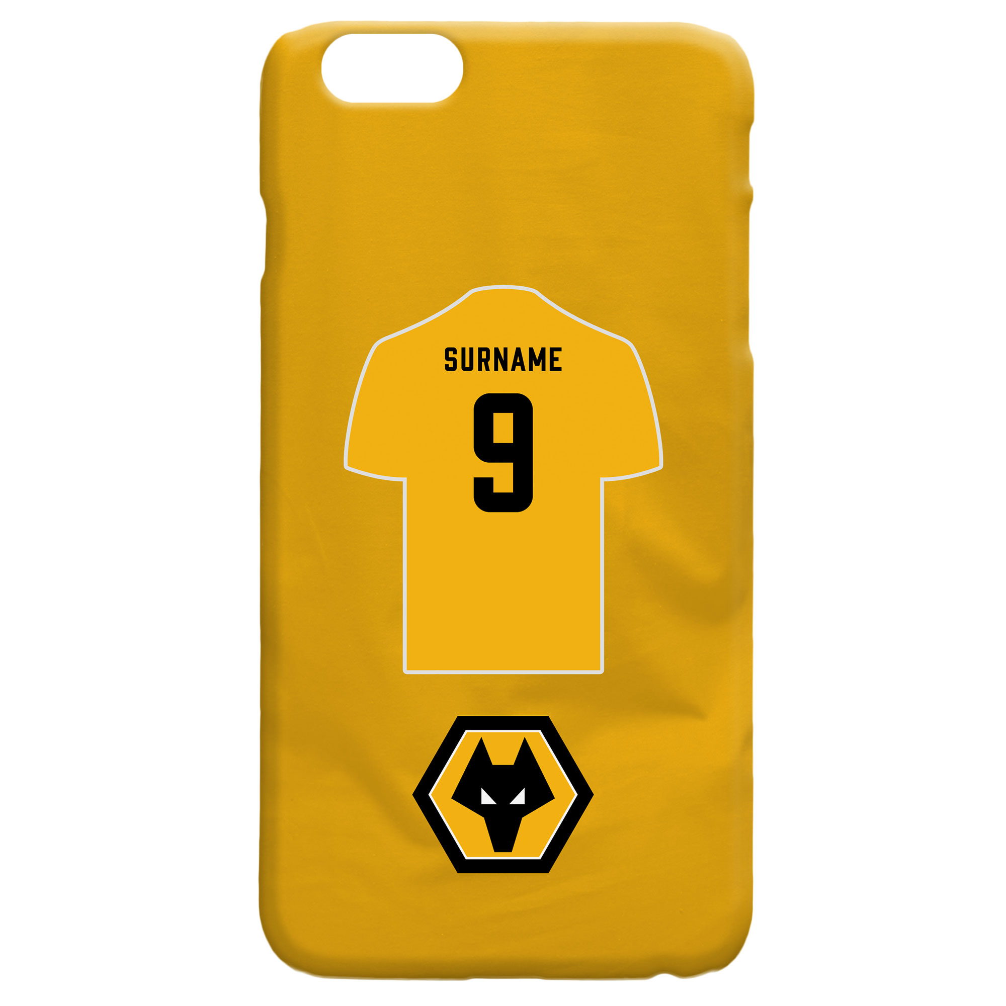 Wolves Shirt Hard Back Phone Case