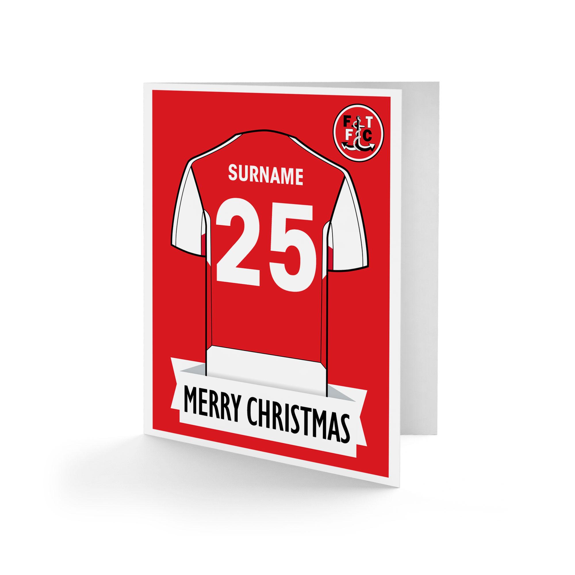Fleetwood Town FC Shirt Christmas Card