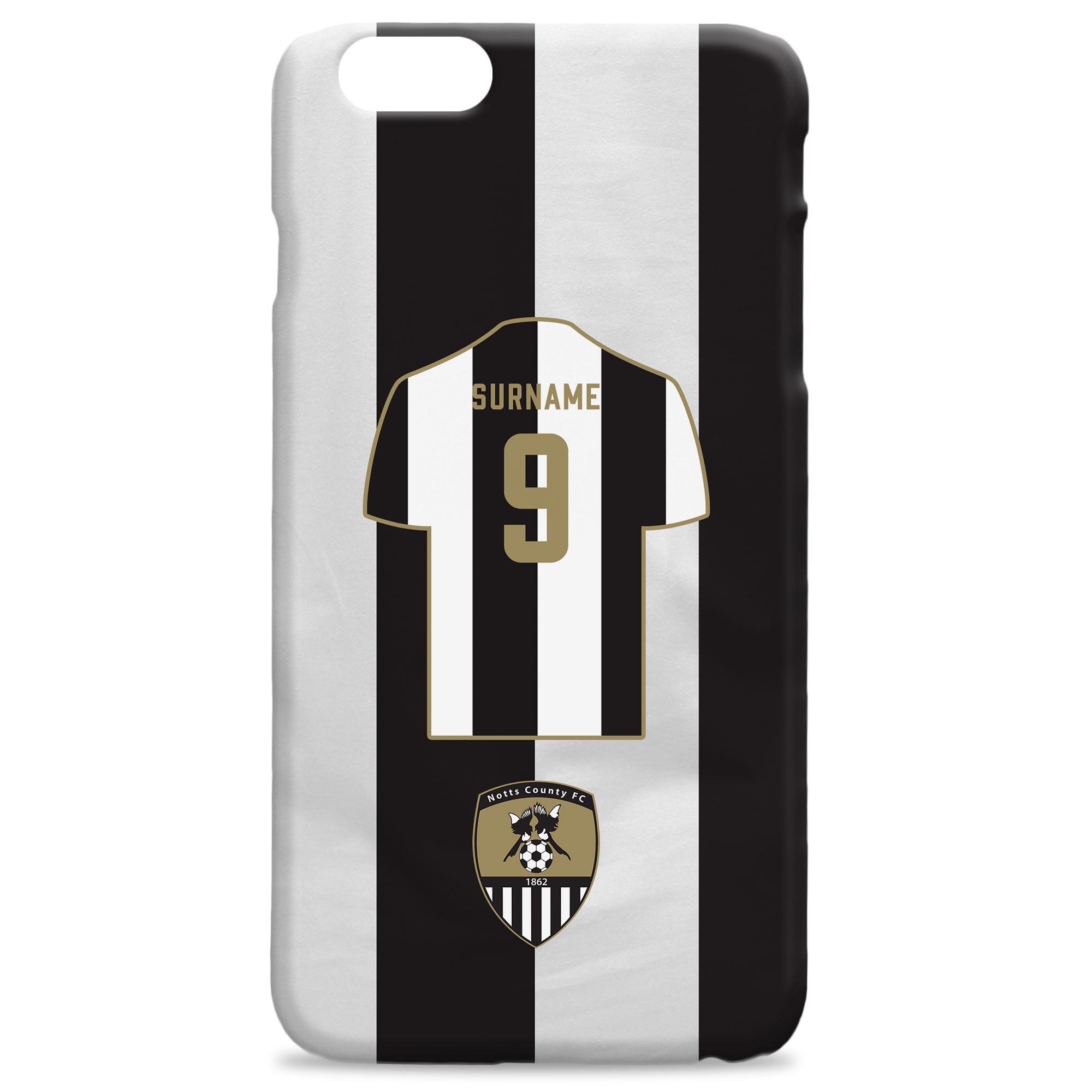 Notts County FC Shirt Hard Back Phone Case