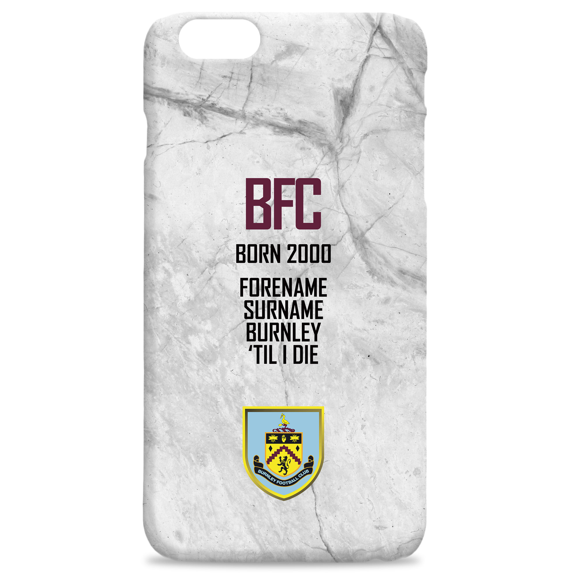 Burnley FC 'Til I Die Hard Back Phone Case