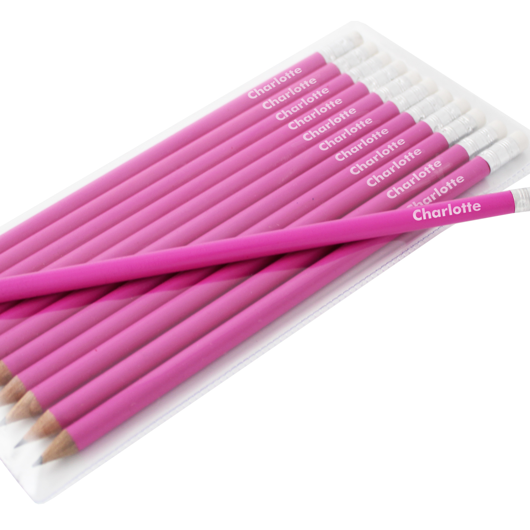 Personalised Pink Pencils