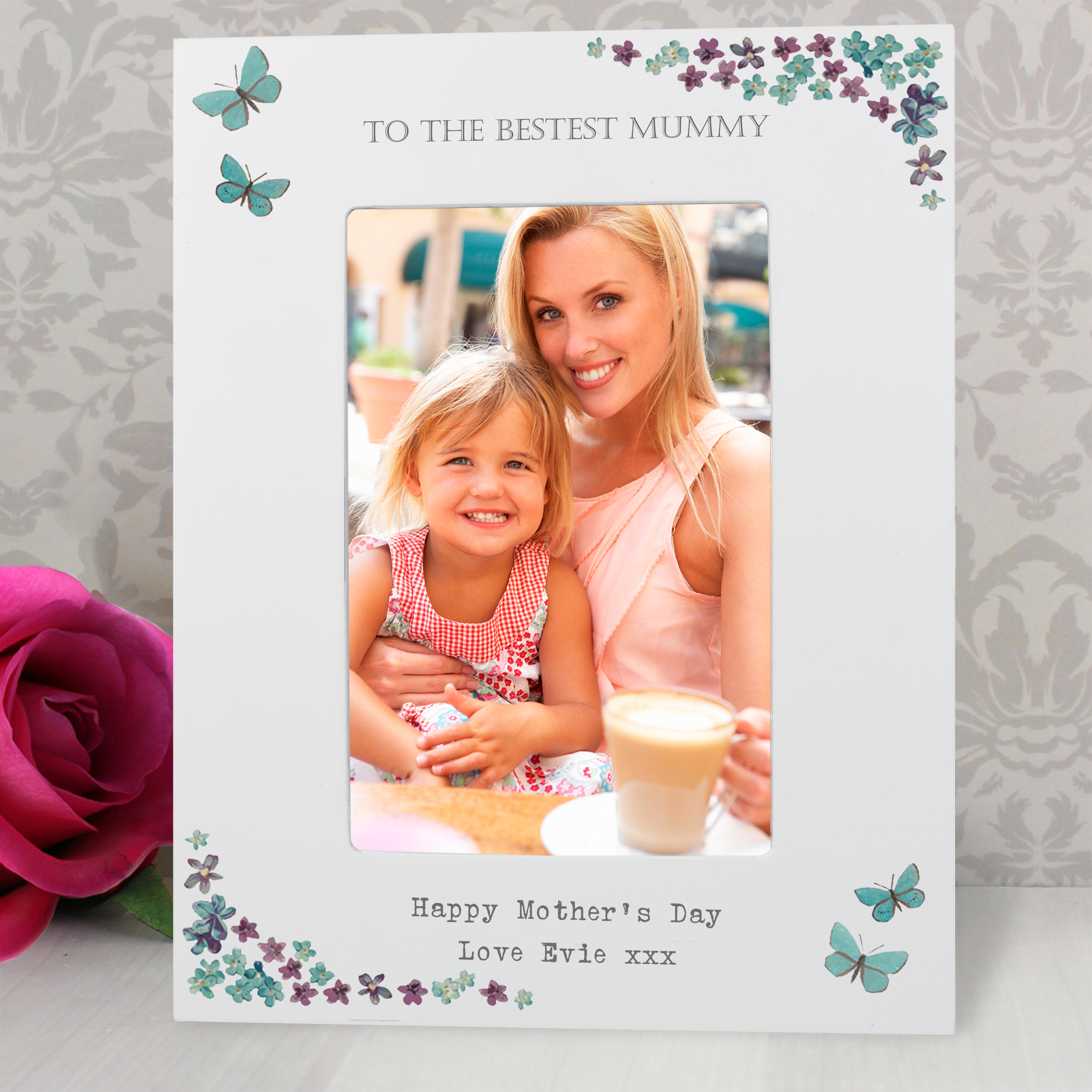Personalised Forget Me Not 6x4 Photo Frame