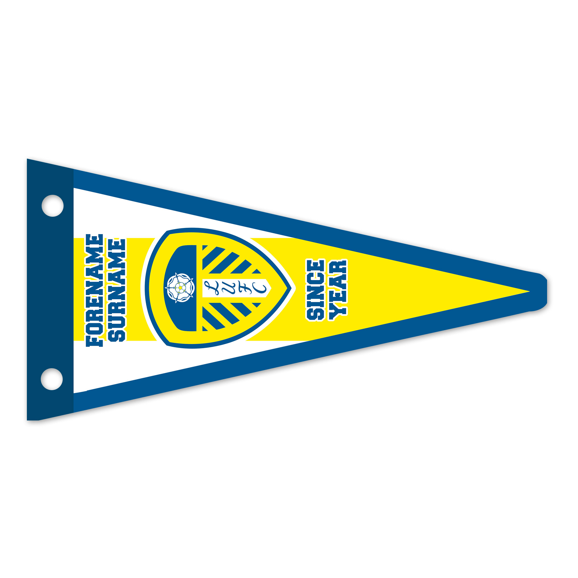 Leeds United FC Stripes Pennant