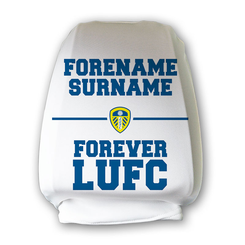 Leeds United FC Forever Headrest Cover