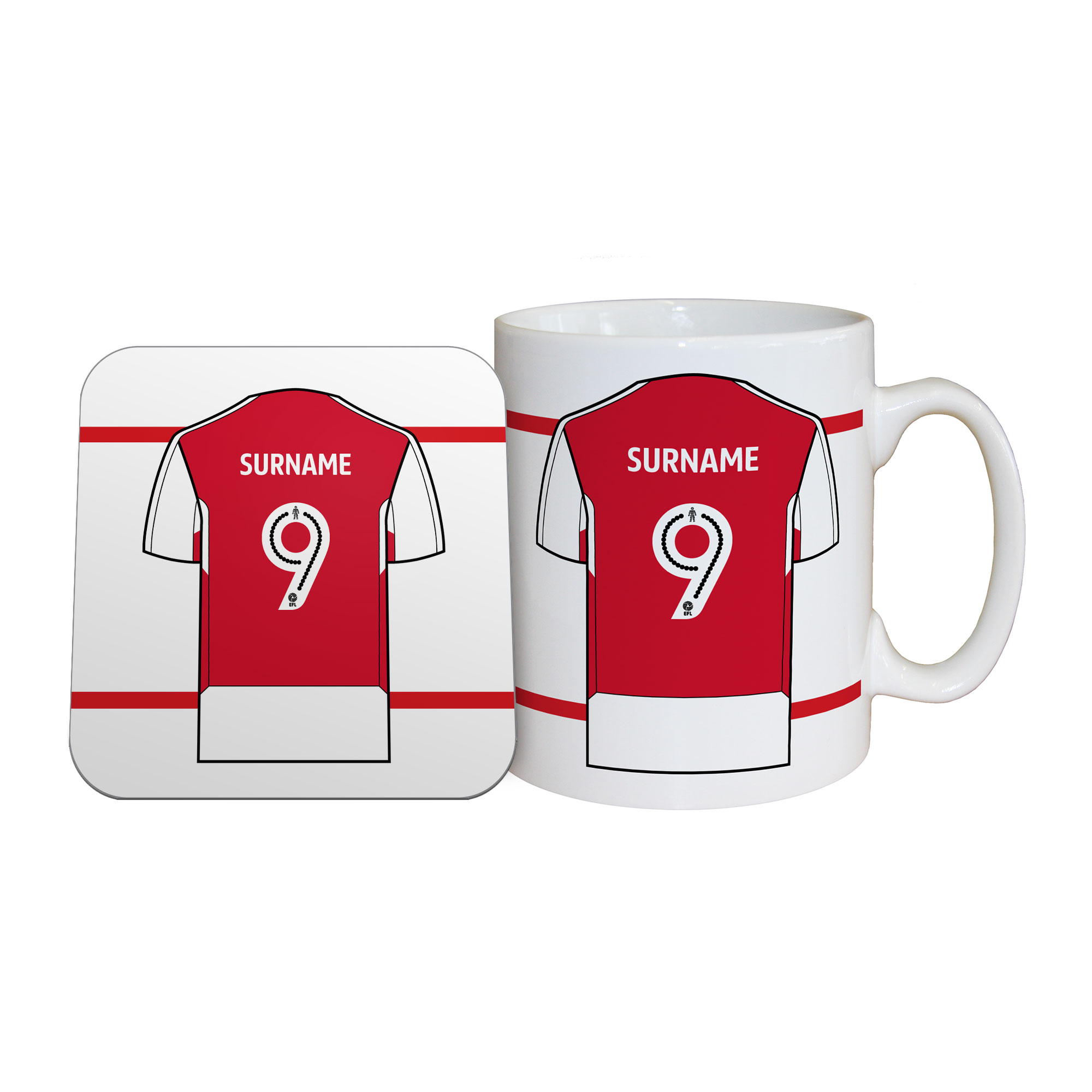 Fleetwood Town FC Shirt Mug & Coaster Set
