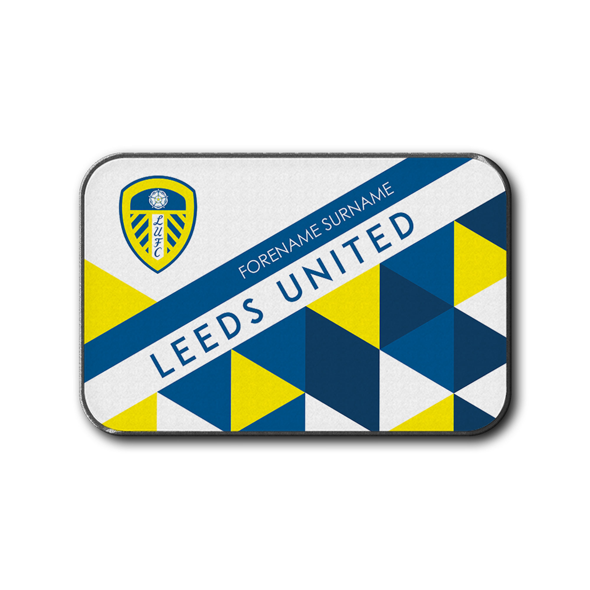 Leeds United Triangles Rear Car Mat