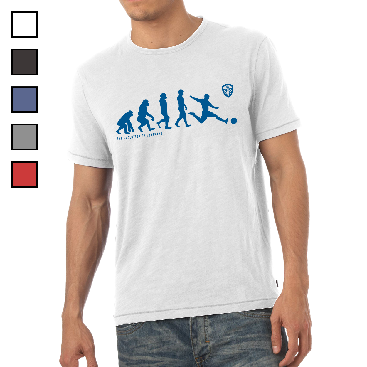 Leeds United FC Evolution Mens T-Shirt