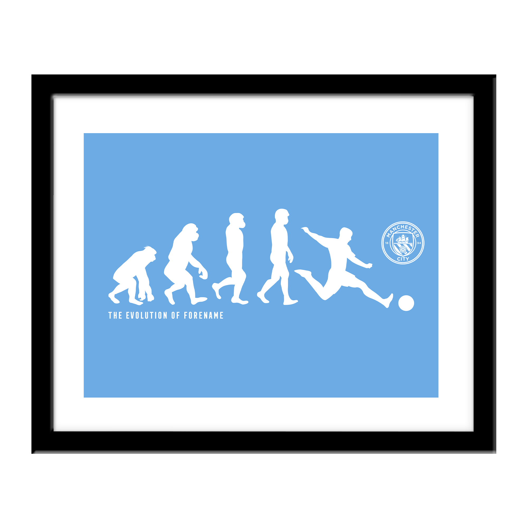 Manchester City FC Evolution Print