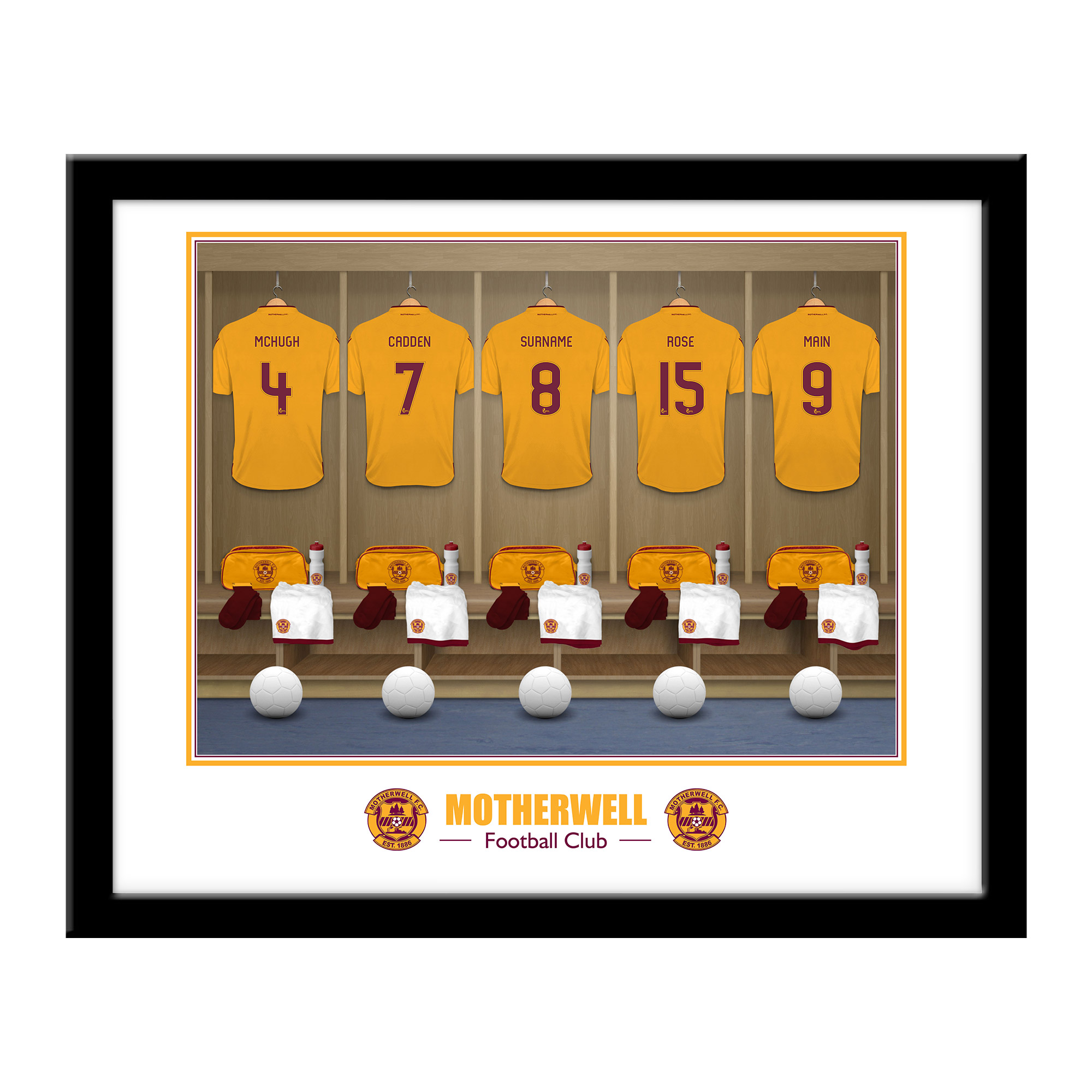 Motherwell FC Dressing Room Framed Print