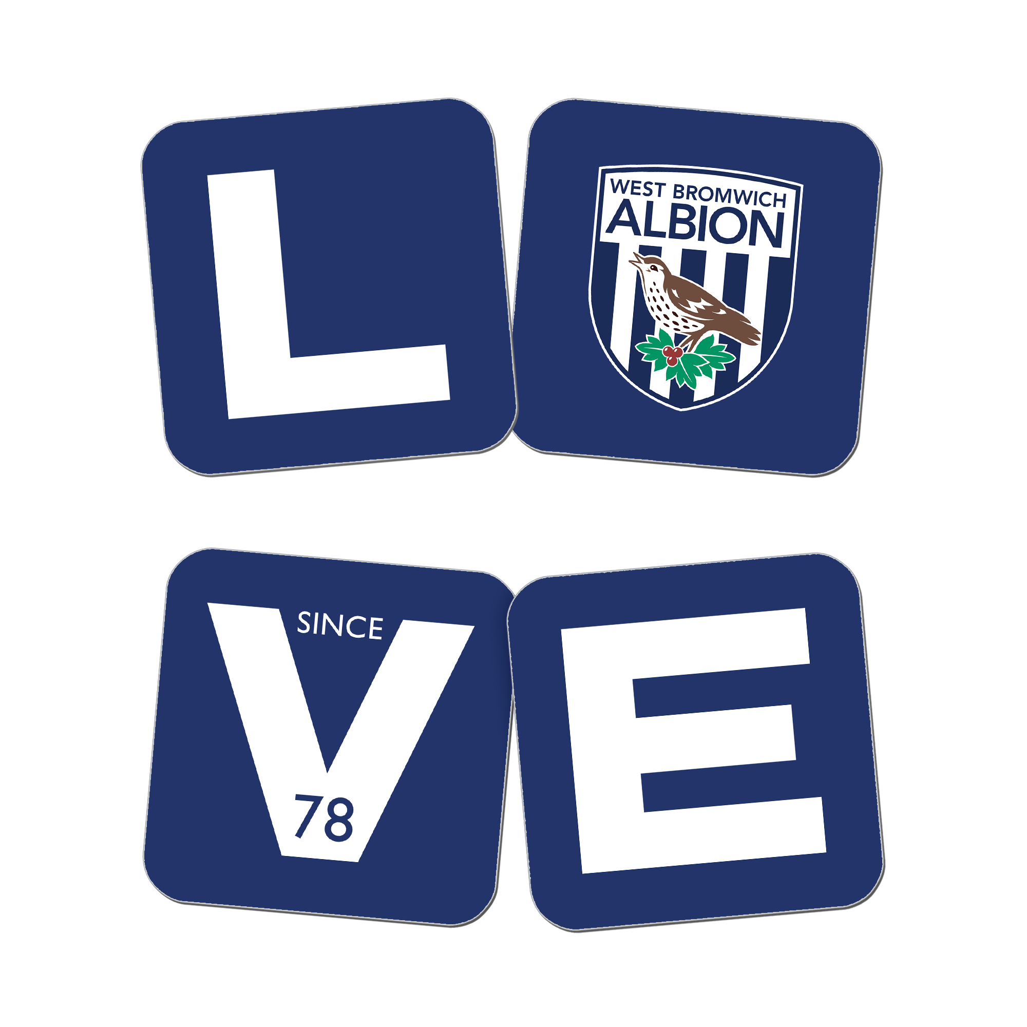 West Bromwich Albion FC Love Coasters (x4)