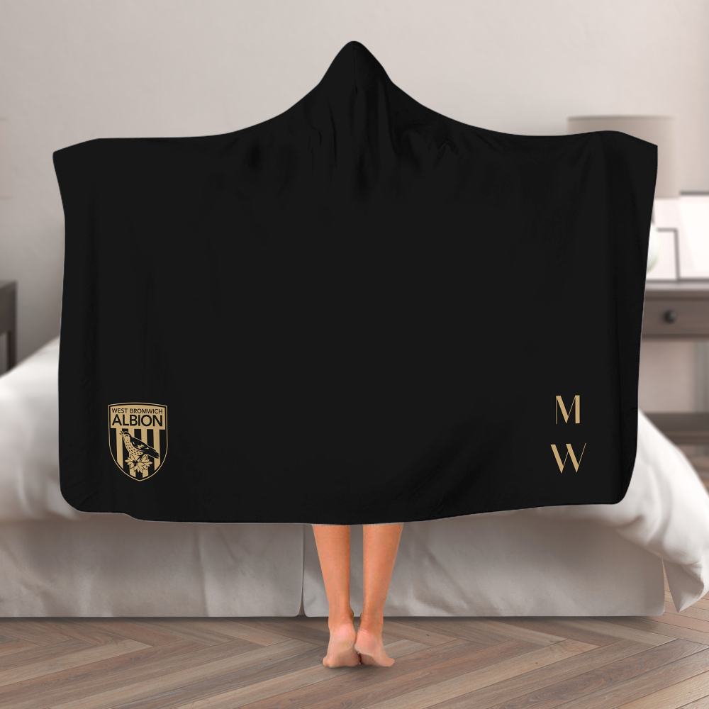West Bromwich Albion FC Initials Hooded Blanket (Adult)
