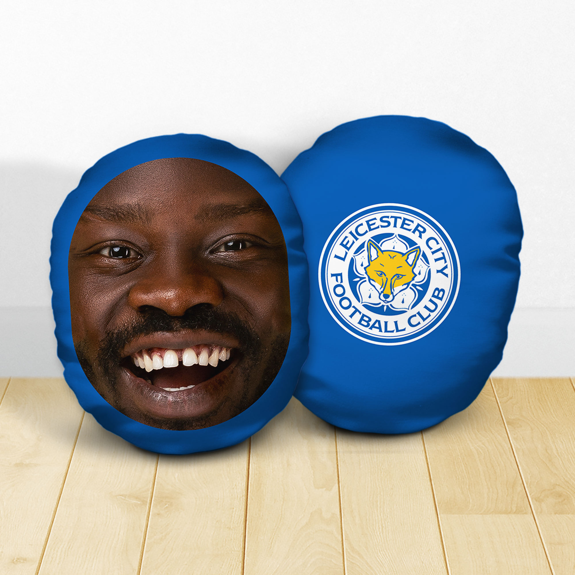 Personalised Leicester City FC Crest Mush Cush