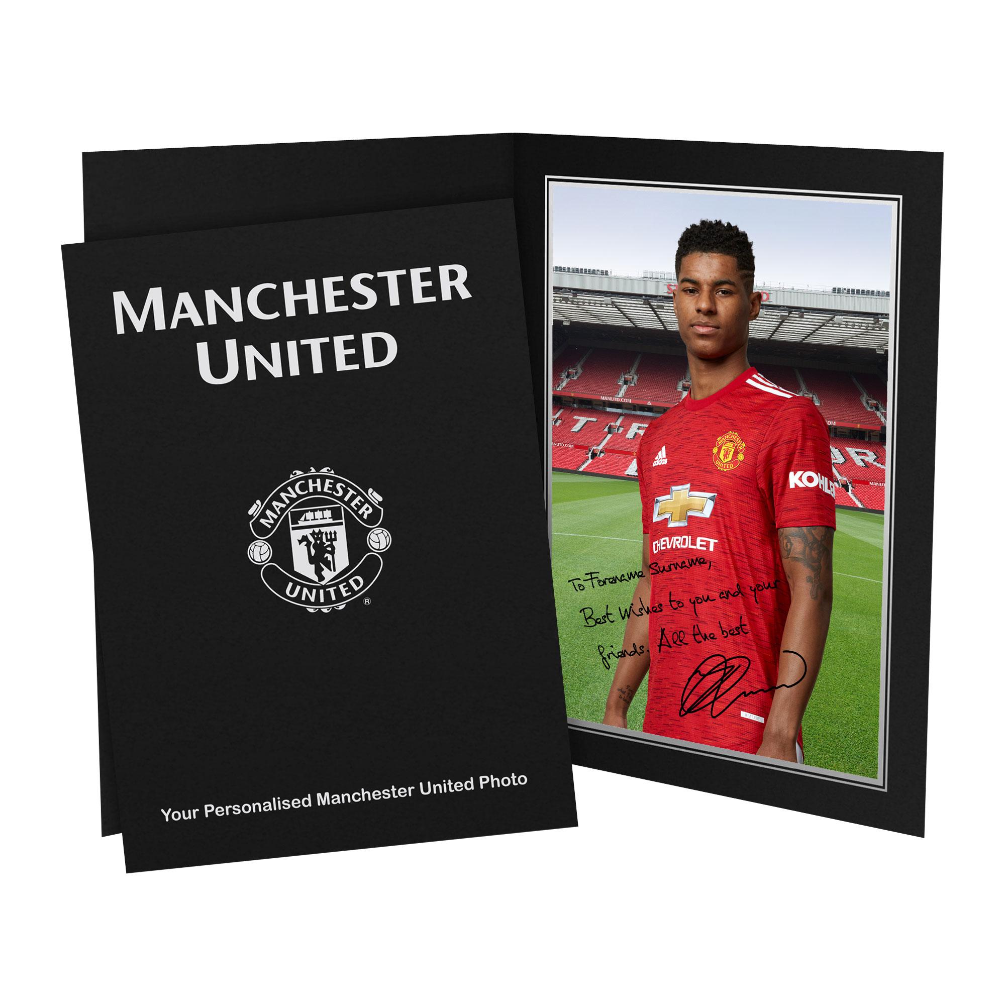 Manchester United FC Rashford Autograph Photo Folder