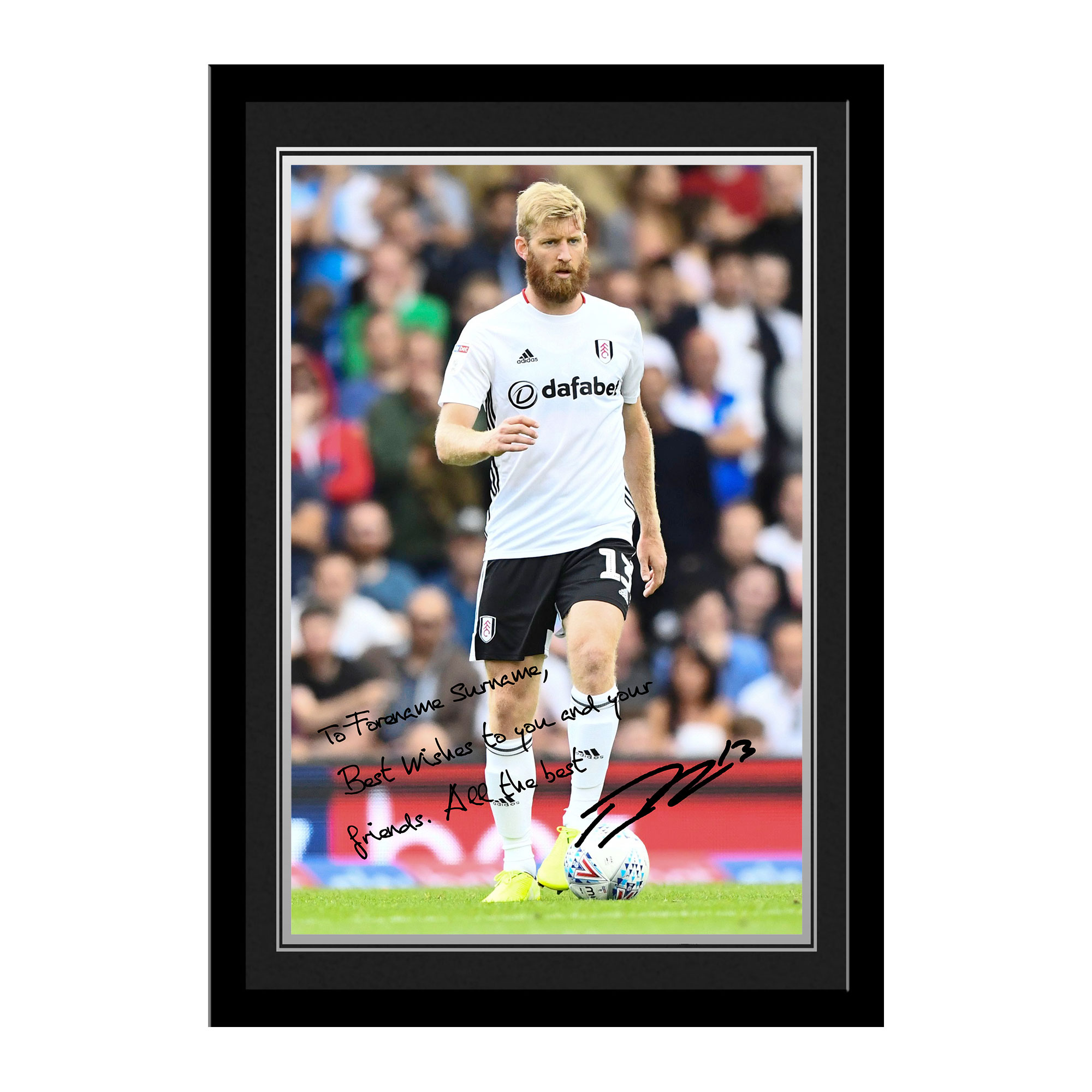 Fulham FC Ream Autograph Photo Framed