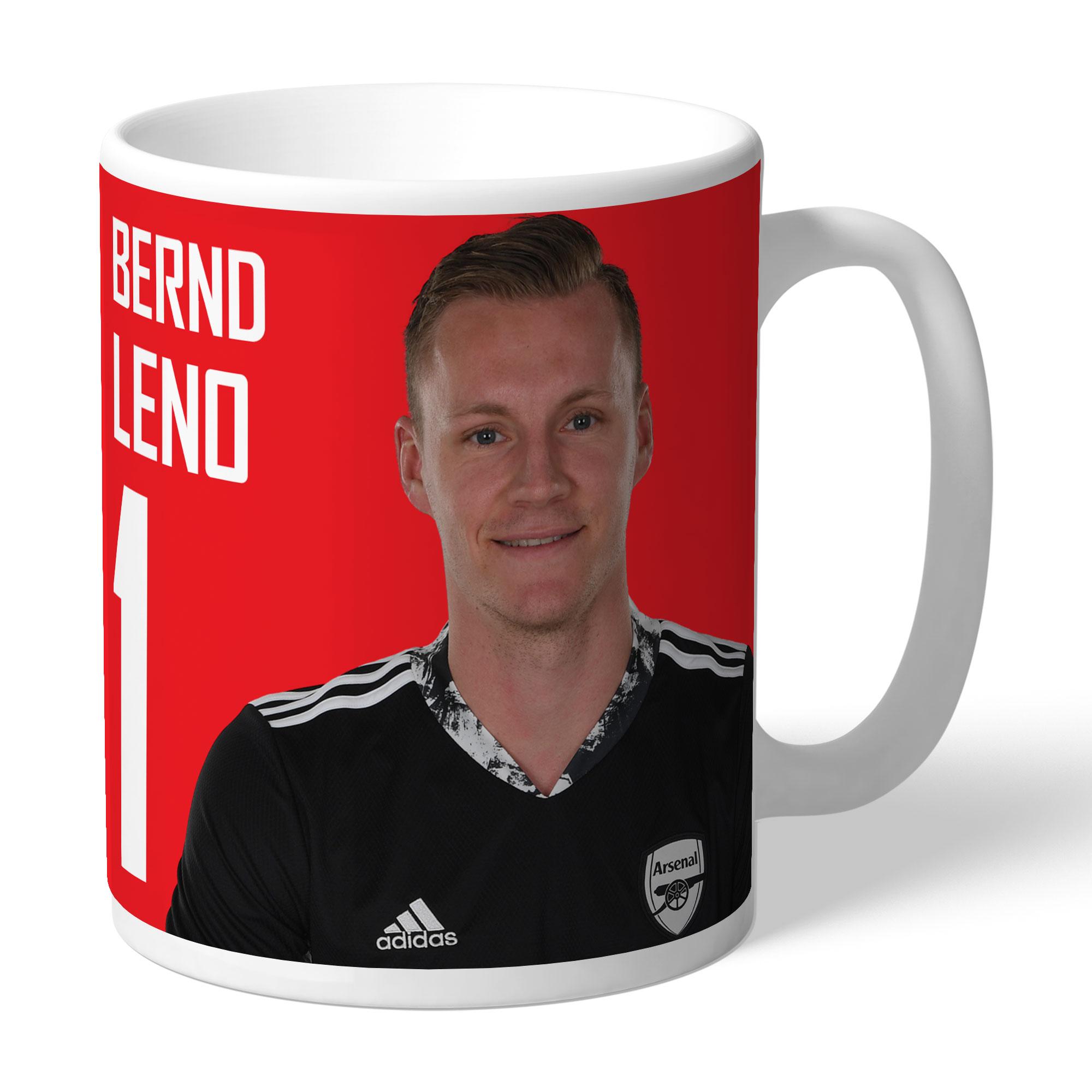 Arsenal FC Leno Autograph Mug