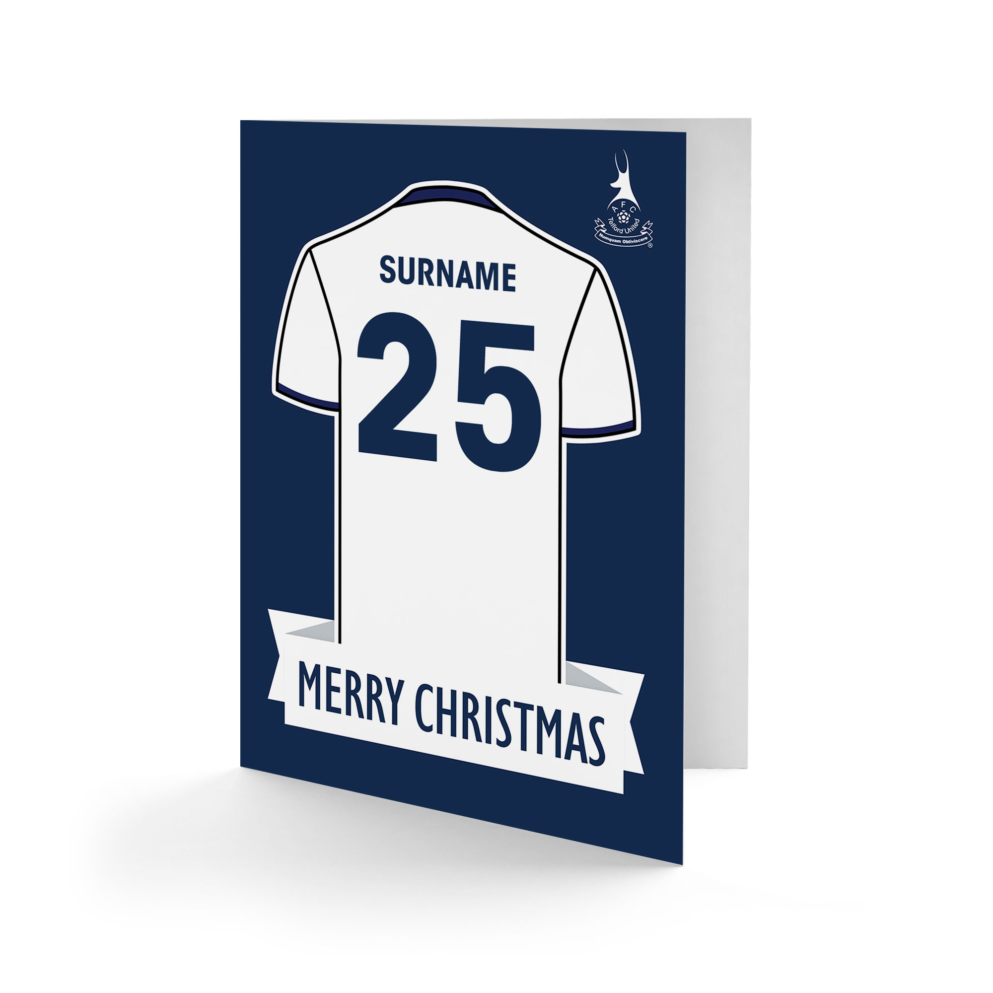 AFC Telford United Shirt Christmas Card