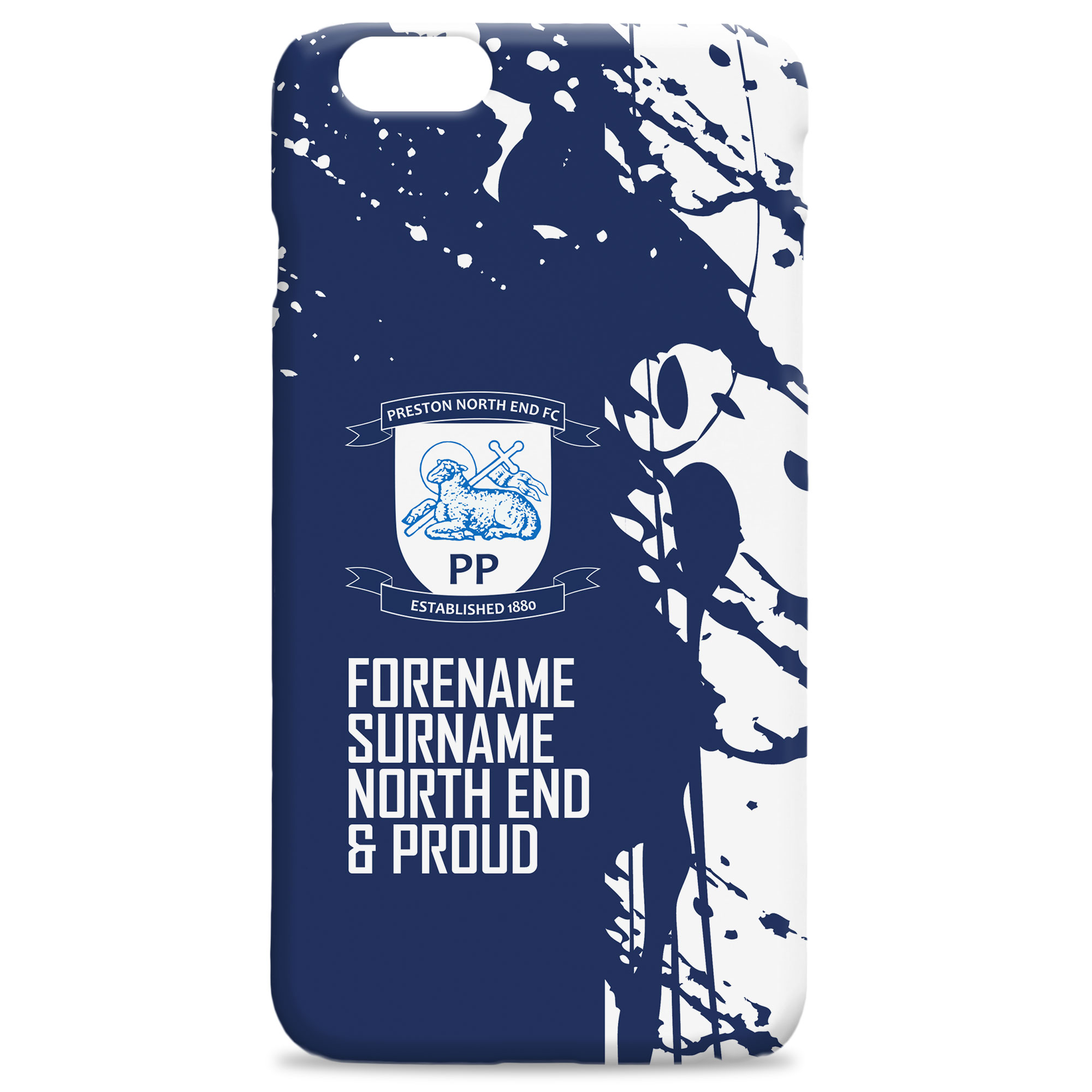 huge discount bf3e7 0b788 Official Personalised Preston North End Proud Hard Back Phone Case
