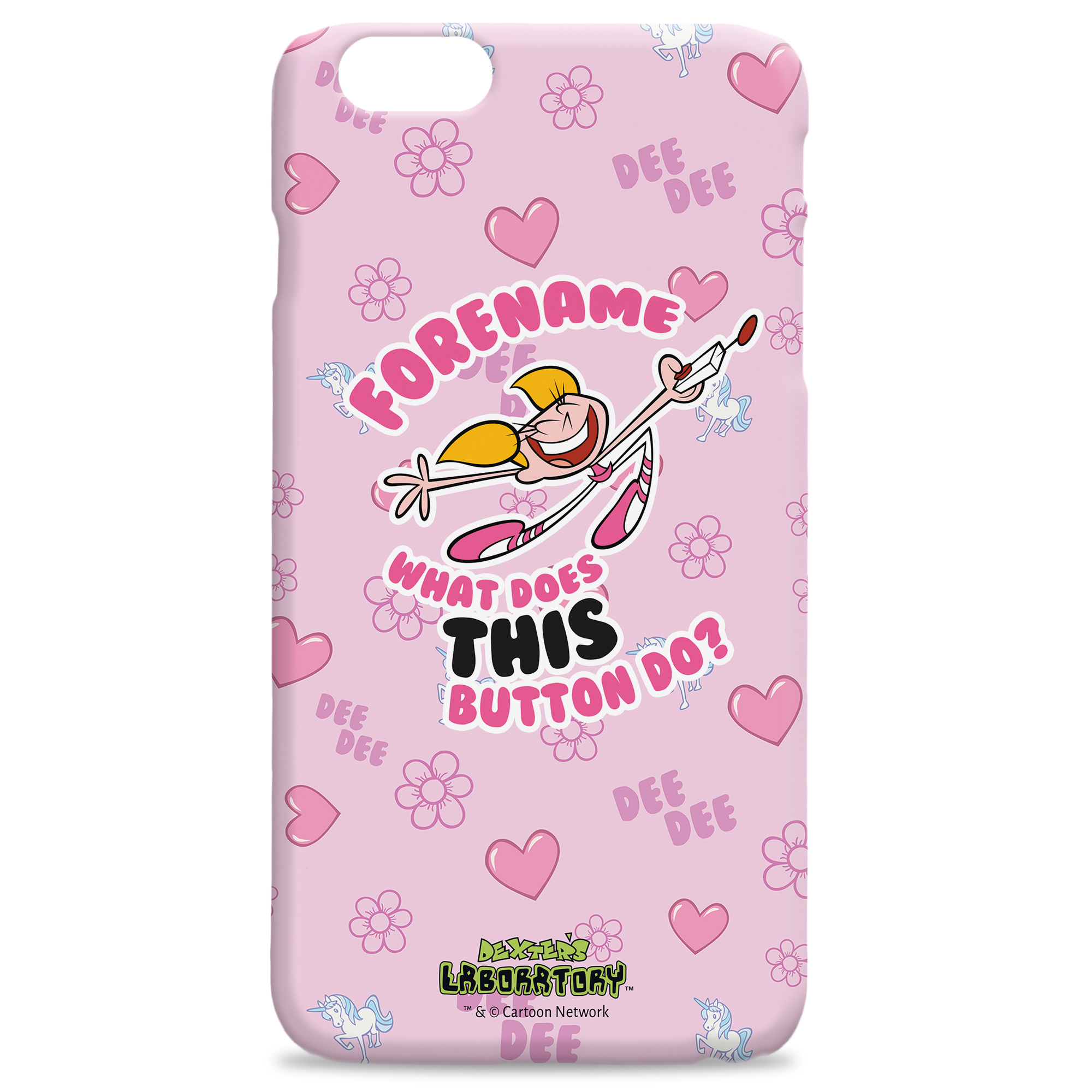 Dexter's Lab What Button iPhone Case