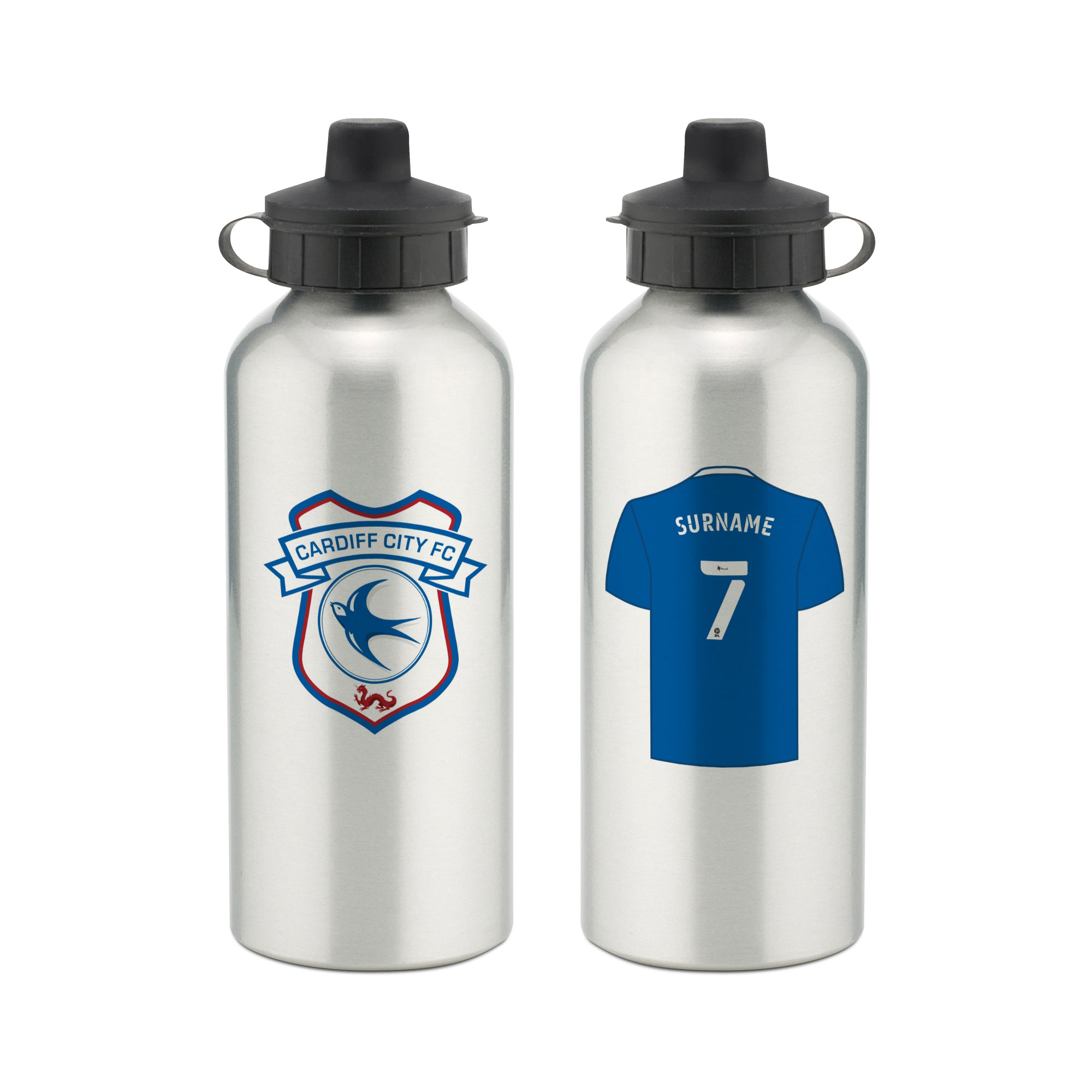 Cardiff City FC Aluminium Water Bottle